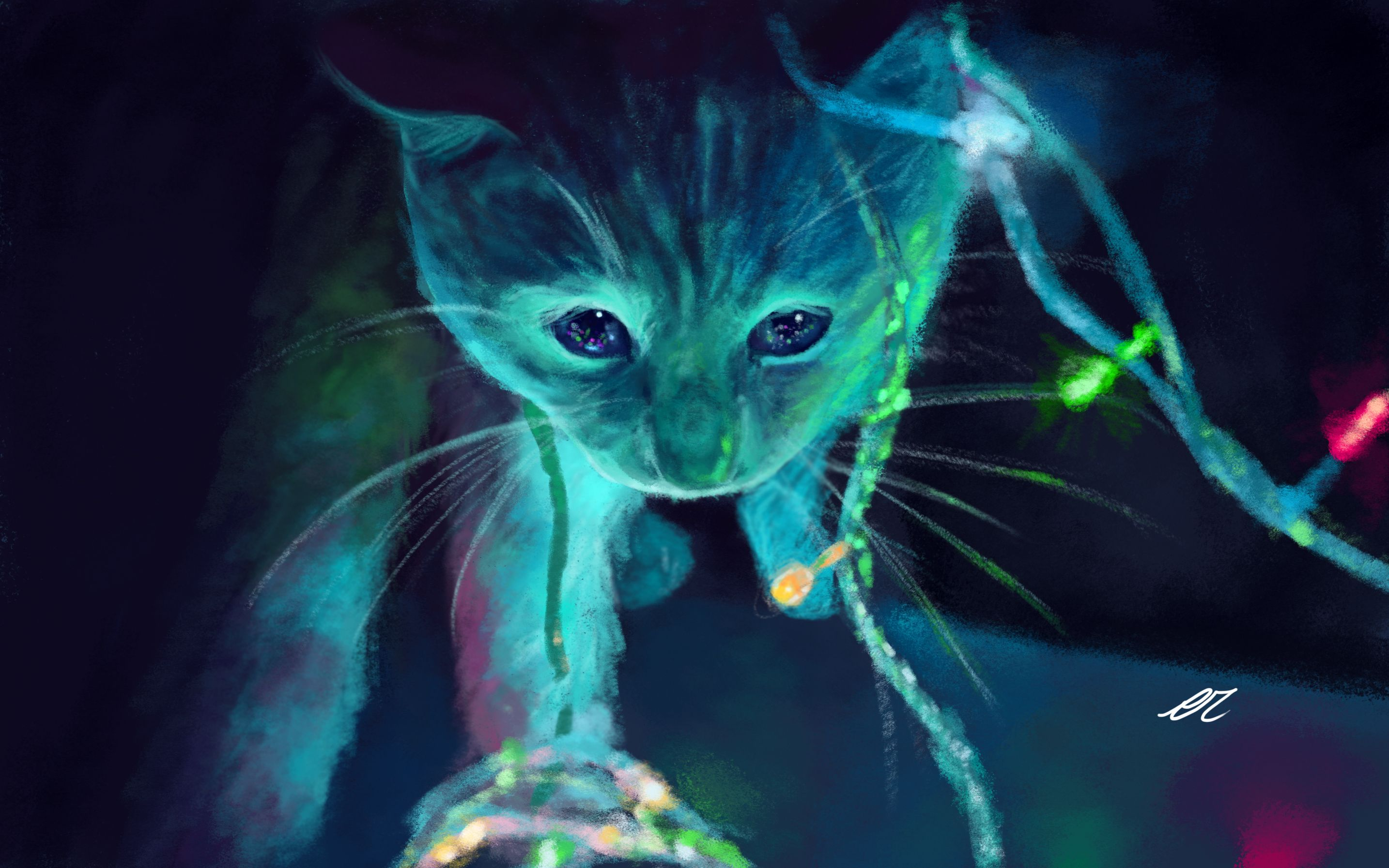 Neon Cat Wallpapers Top Free Neon Cat Backgrounds Wallpaperaccess