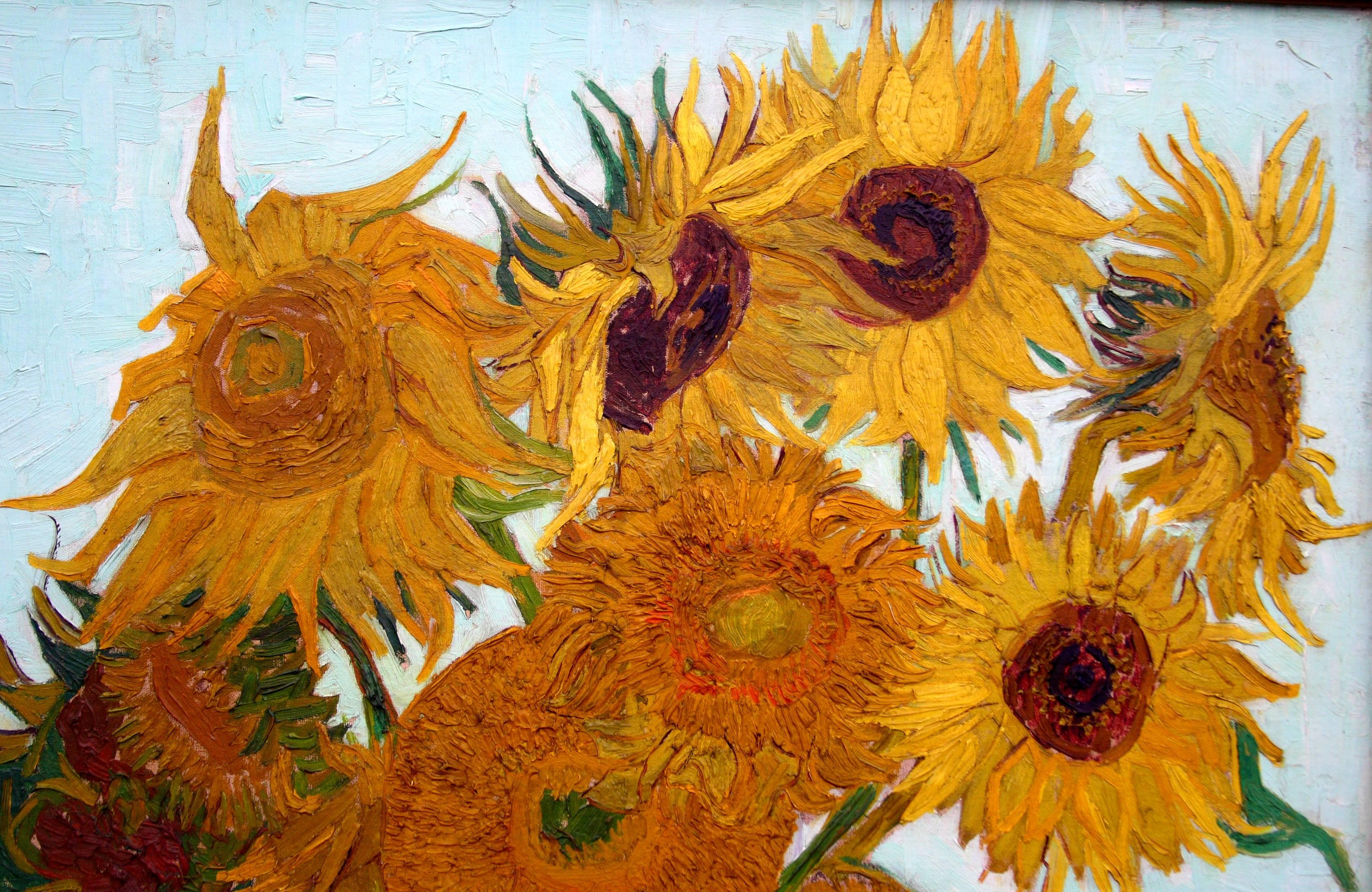 Van gogh sunflowers wallpapers top free van gogh sunflowers backgrounds wallpaperaccess - Hd wallpaper van gogh ...