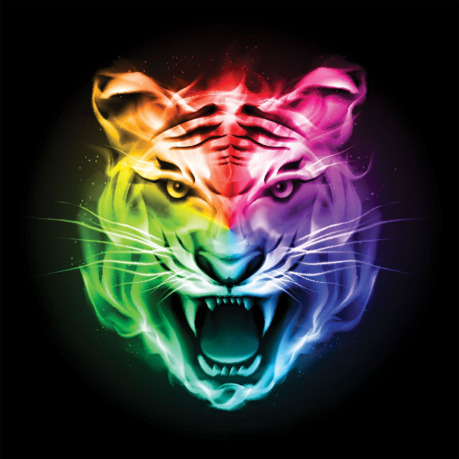 Colorful Tiger Wallpapers Top Free Colorful Tiger Backgrounds Wallpaperaccess