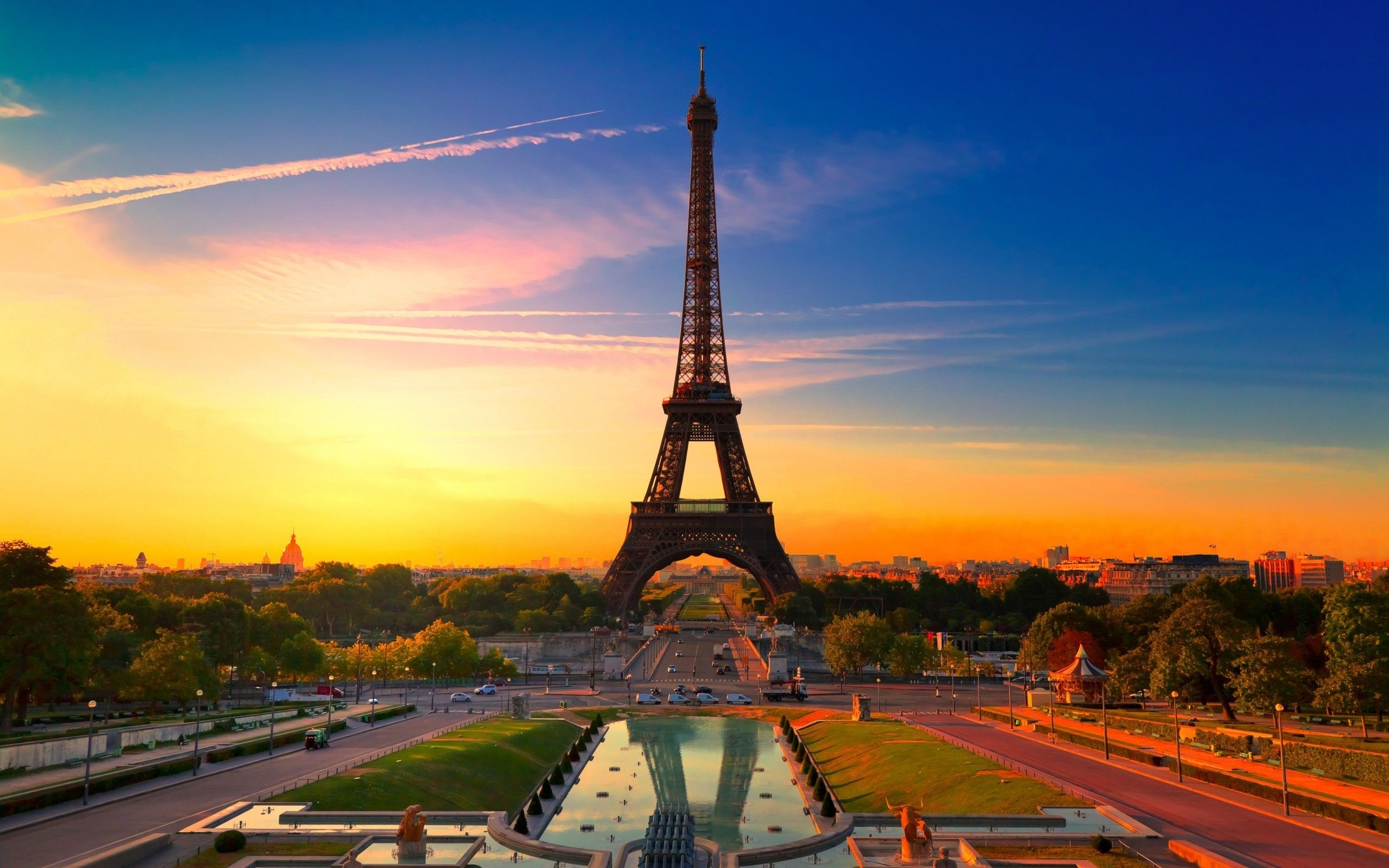 Paris Sunset Wallpapers Top Free Paris Sunset Backgrounds