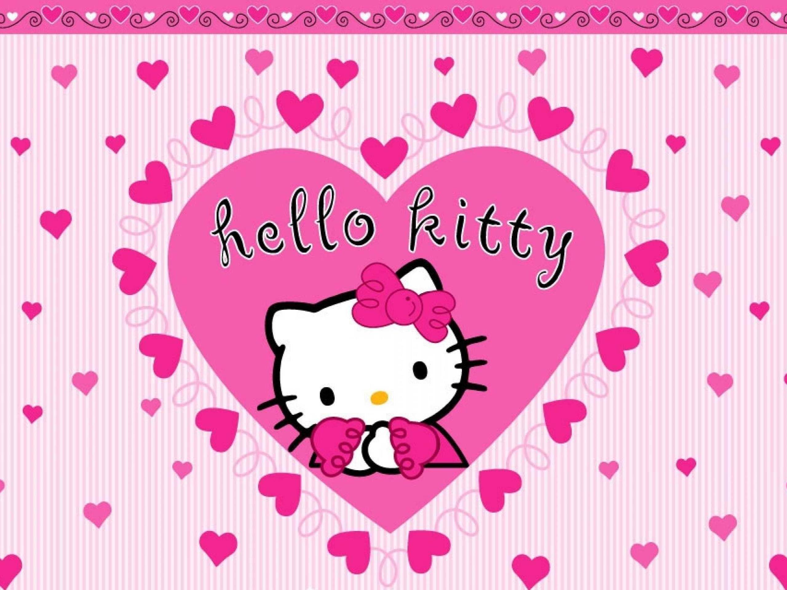 2560x1920 Valentine Kitty Wallpaper
