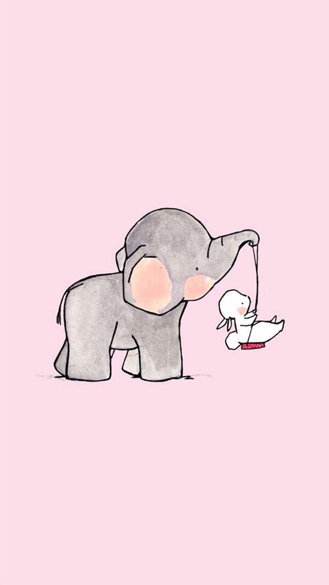 kawaii elephant wallpapers