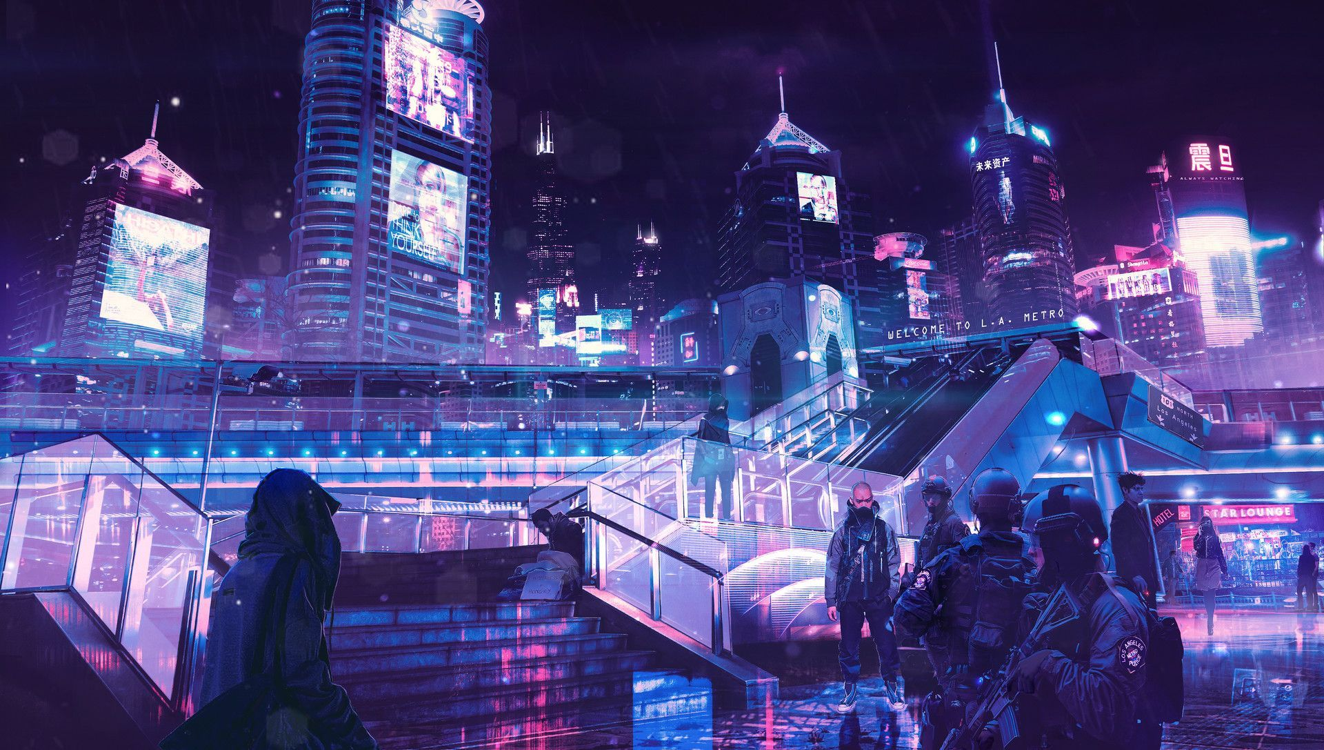 Neon City Wallpapers Top Free Neon City Backgrounds
