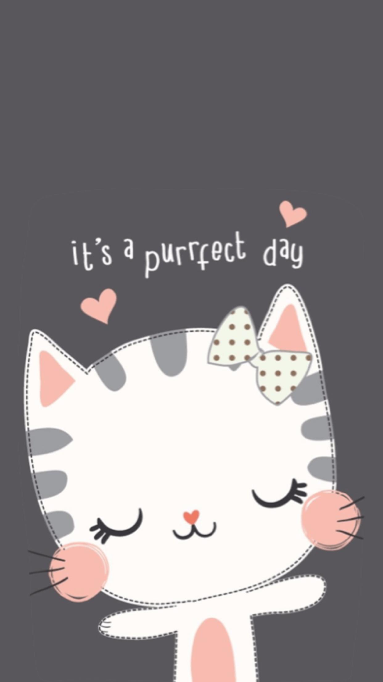 Cute Cartoon Cat Wallpapers Top Free Cute Cartoon Cat
