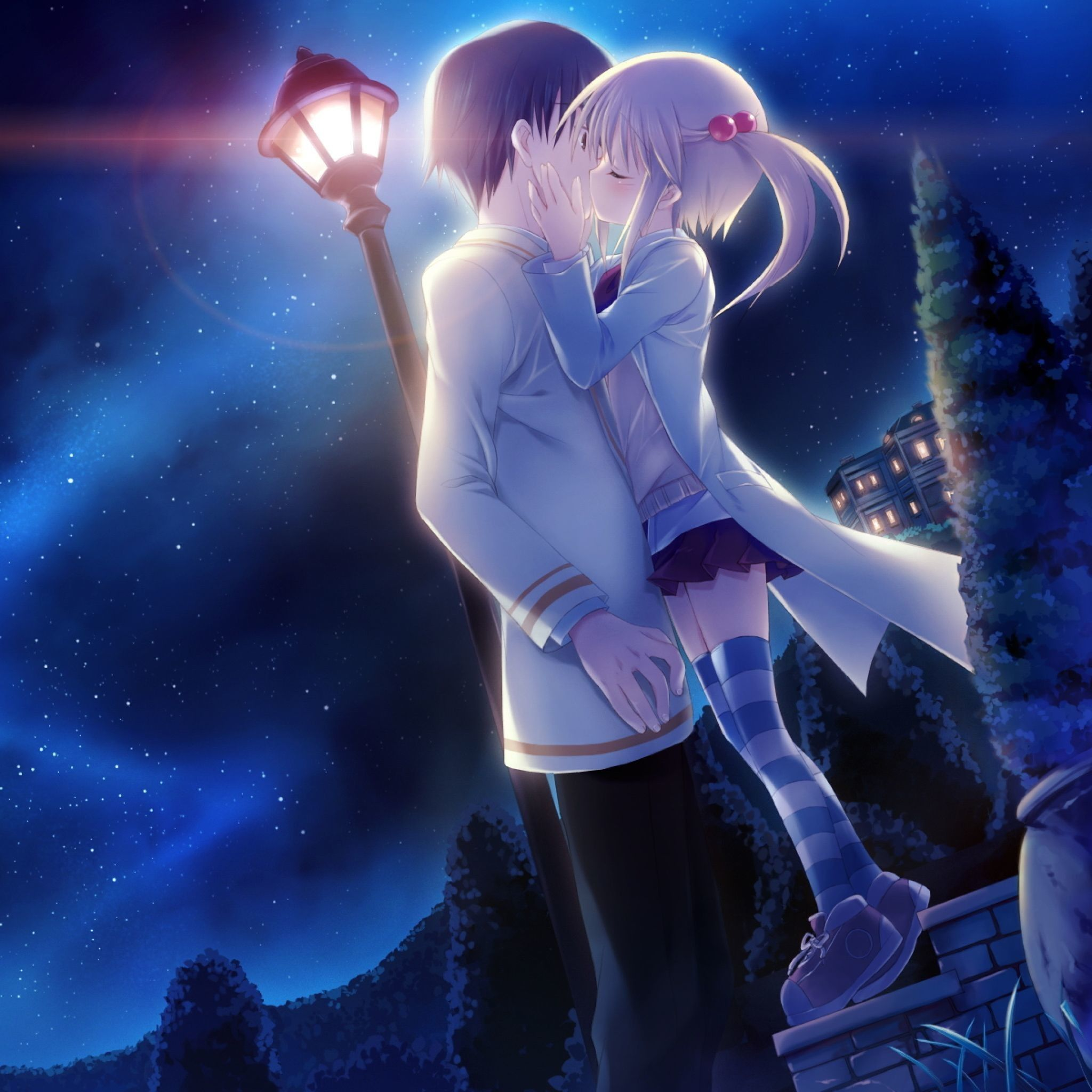 Cute Anime Love Wallpapers Top Free Cute Anime Love Backgrounds Wallpaperaccess