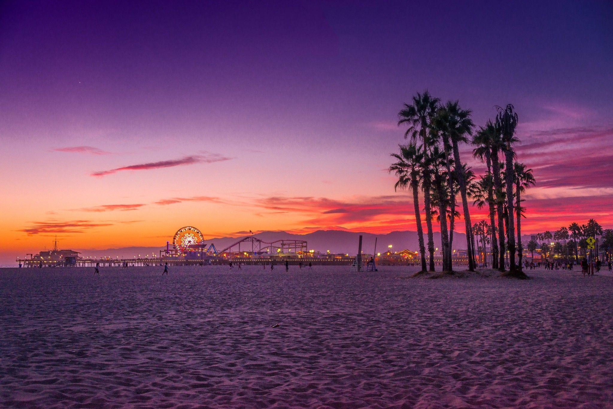 Venice Beach Sunset Wallpapers Top Free Venice Beach Sunset Backgrounds Wallpaperaccess