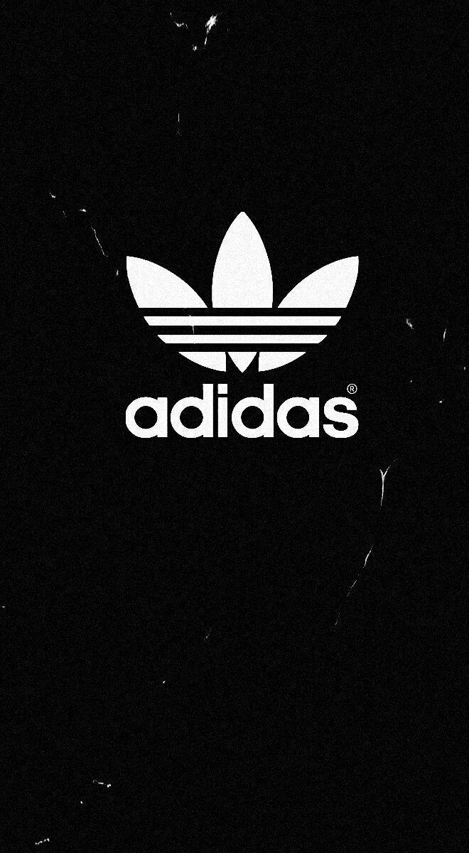 white adidas sign