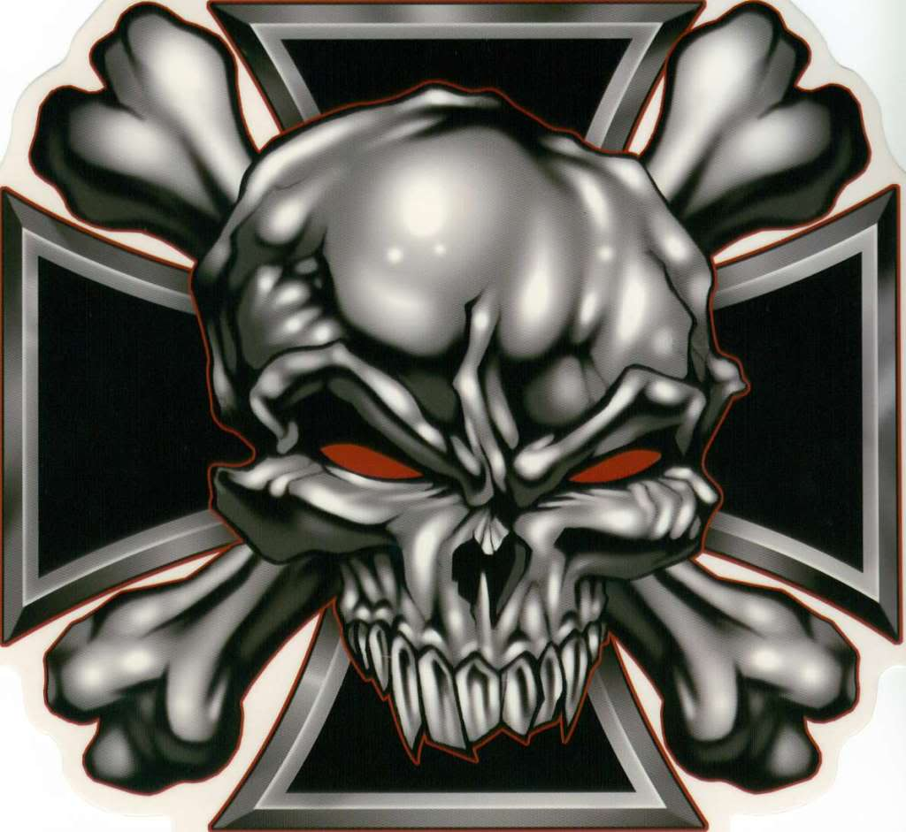 Biker Skull And Cross Wallpapers Top Free Biker Skull And