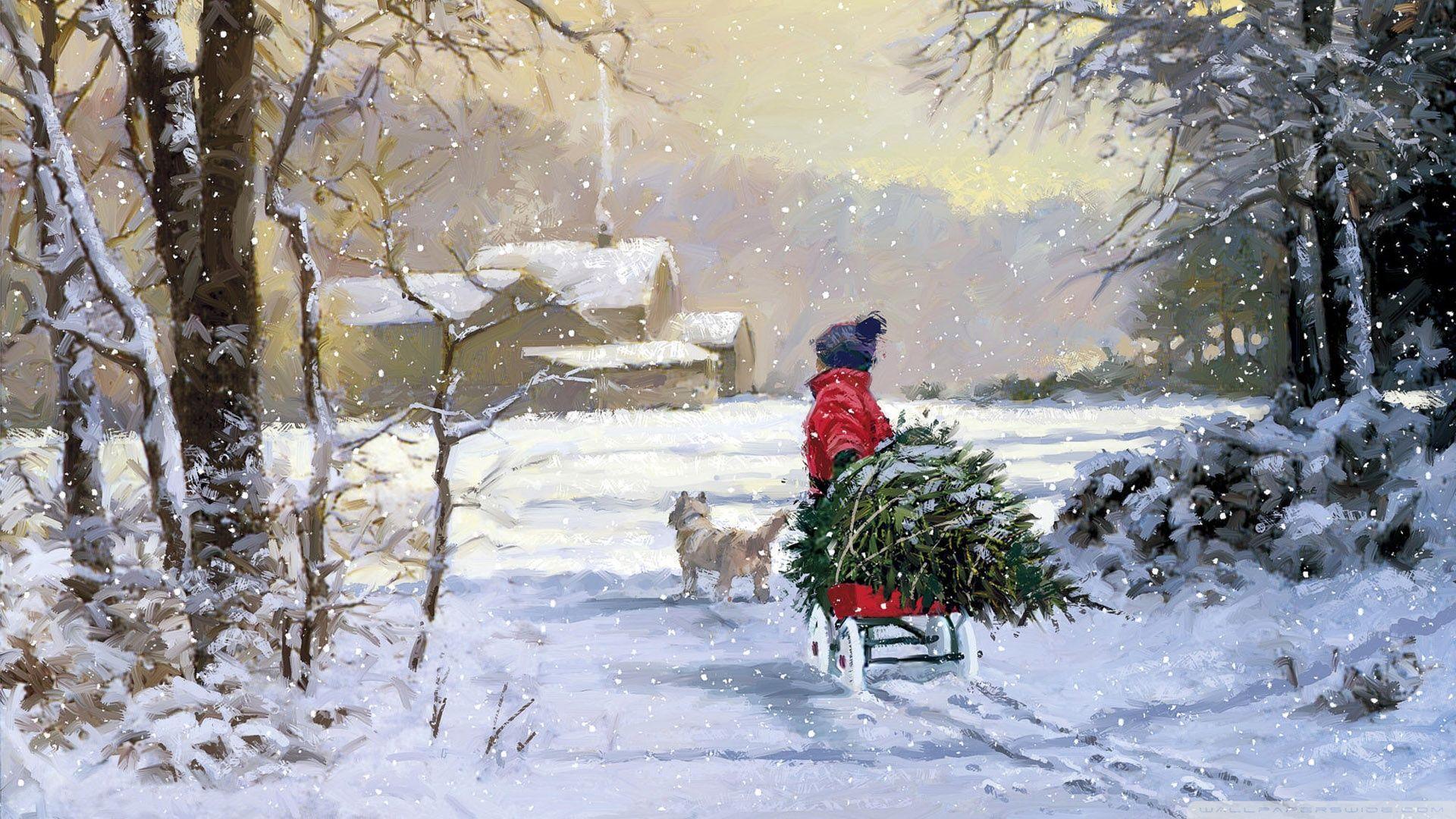Vintage Winter Wallpapers - Top Free ...
