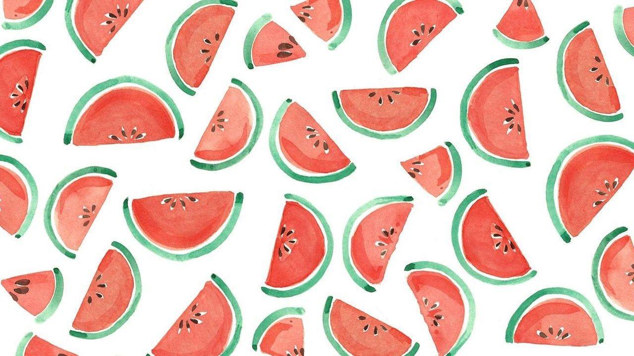 Pink Wallpaper Kawaii Watermelon Desktop Wallpaper Watermelon Wallpaper Downloadable Wallpapers One in a Melon Kawaii Fruit Kawaii