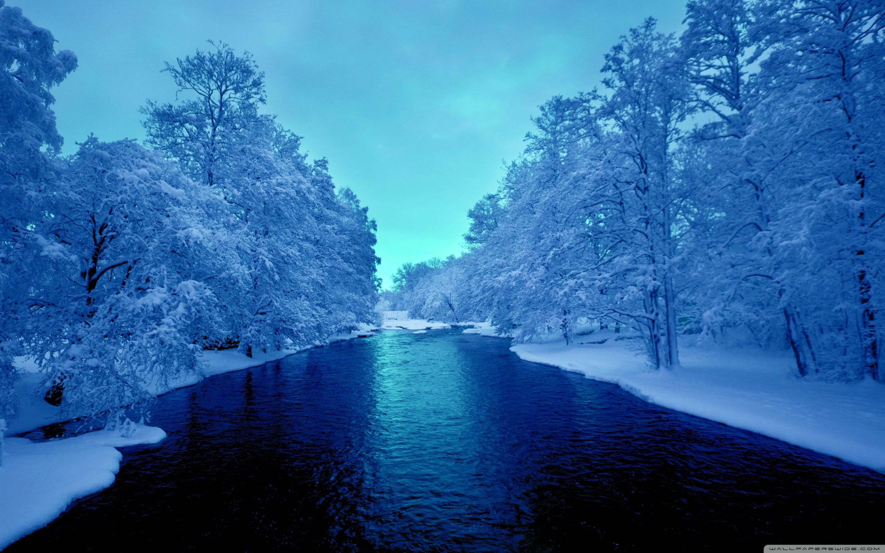 Winter River Wallpapers Top Free Winter River Backgrounds Wallpaperaccess