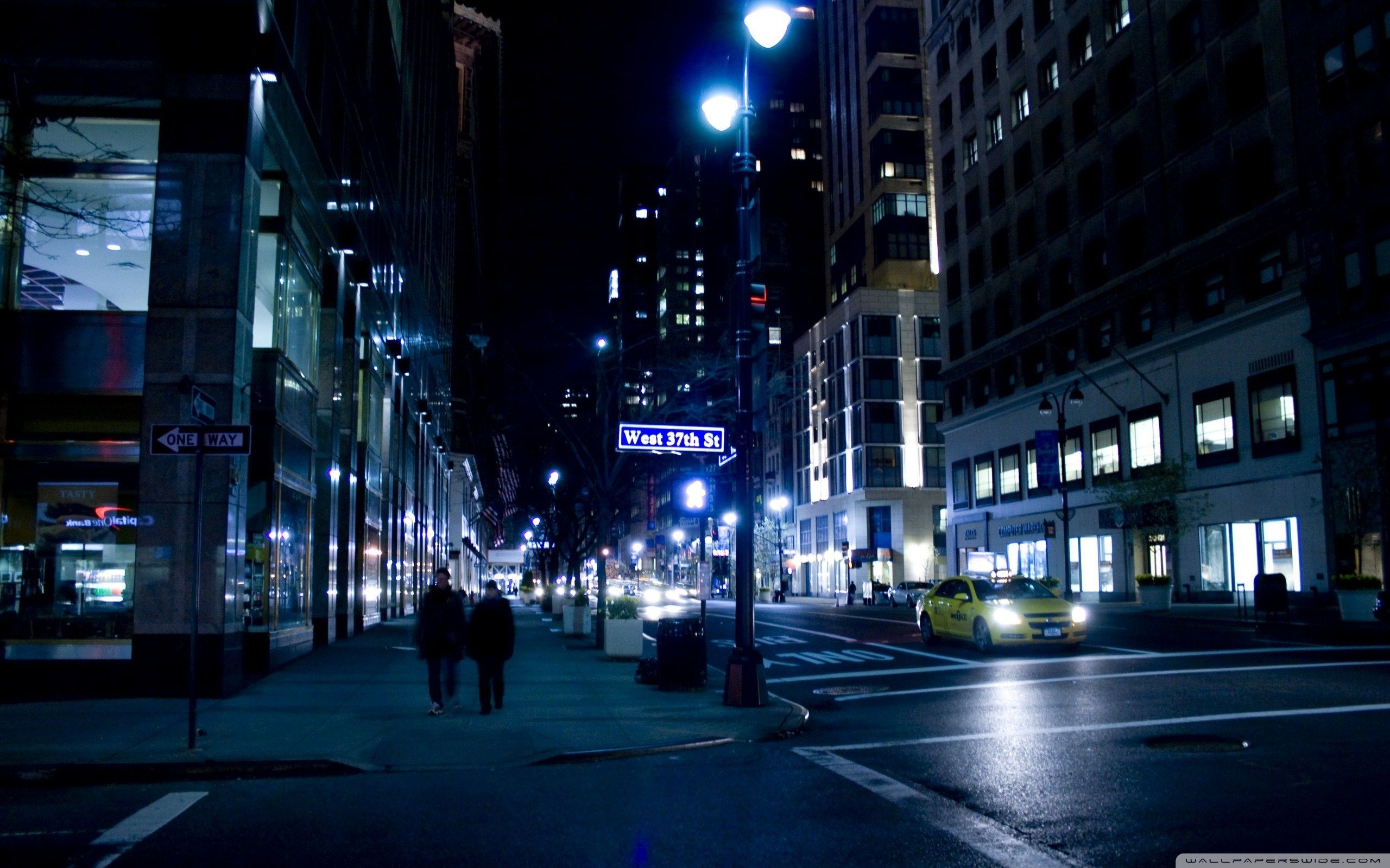 Image result for city night streets""