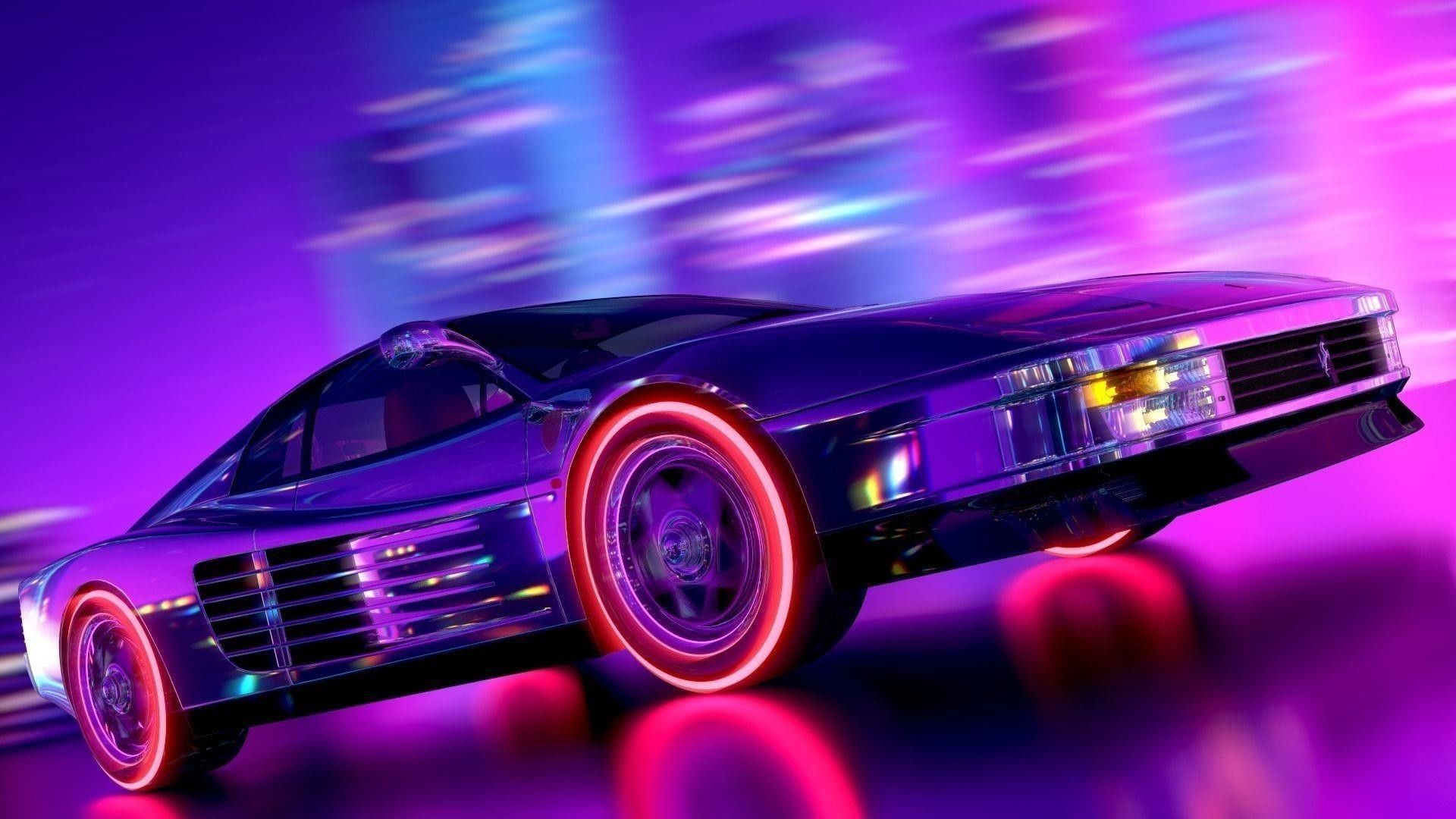 80s Retro Neon Car Wallpapers Top Free 80s Retro Neon Car
