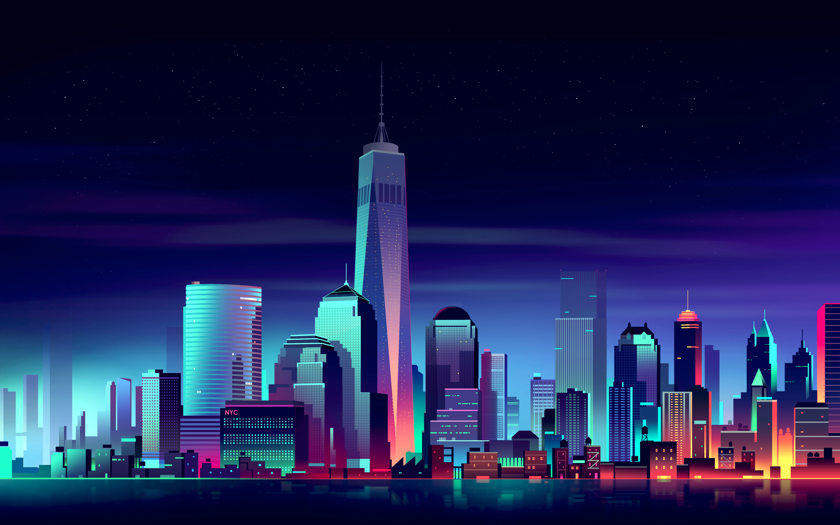 Neon City Wallpapers Top Free Neon City Backgrounds Wallpaperaccess
