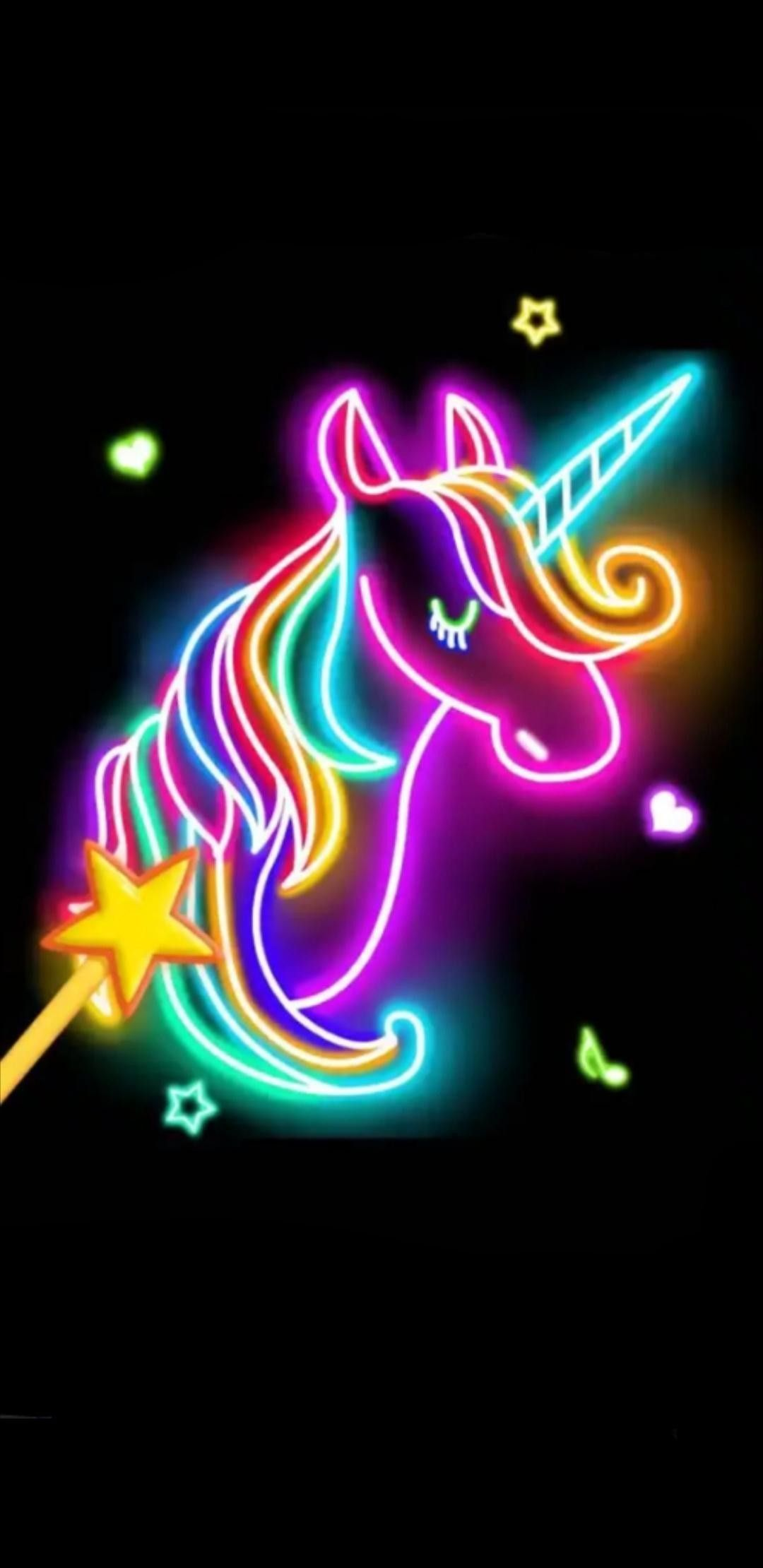 Neon Unicorn Wallpapers Top Free Neon Unicorn Backgrounds Wallpaperaccess