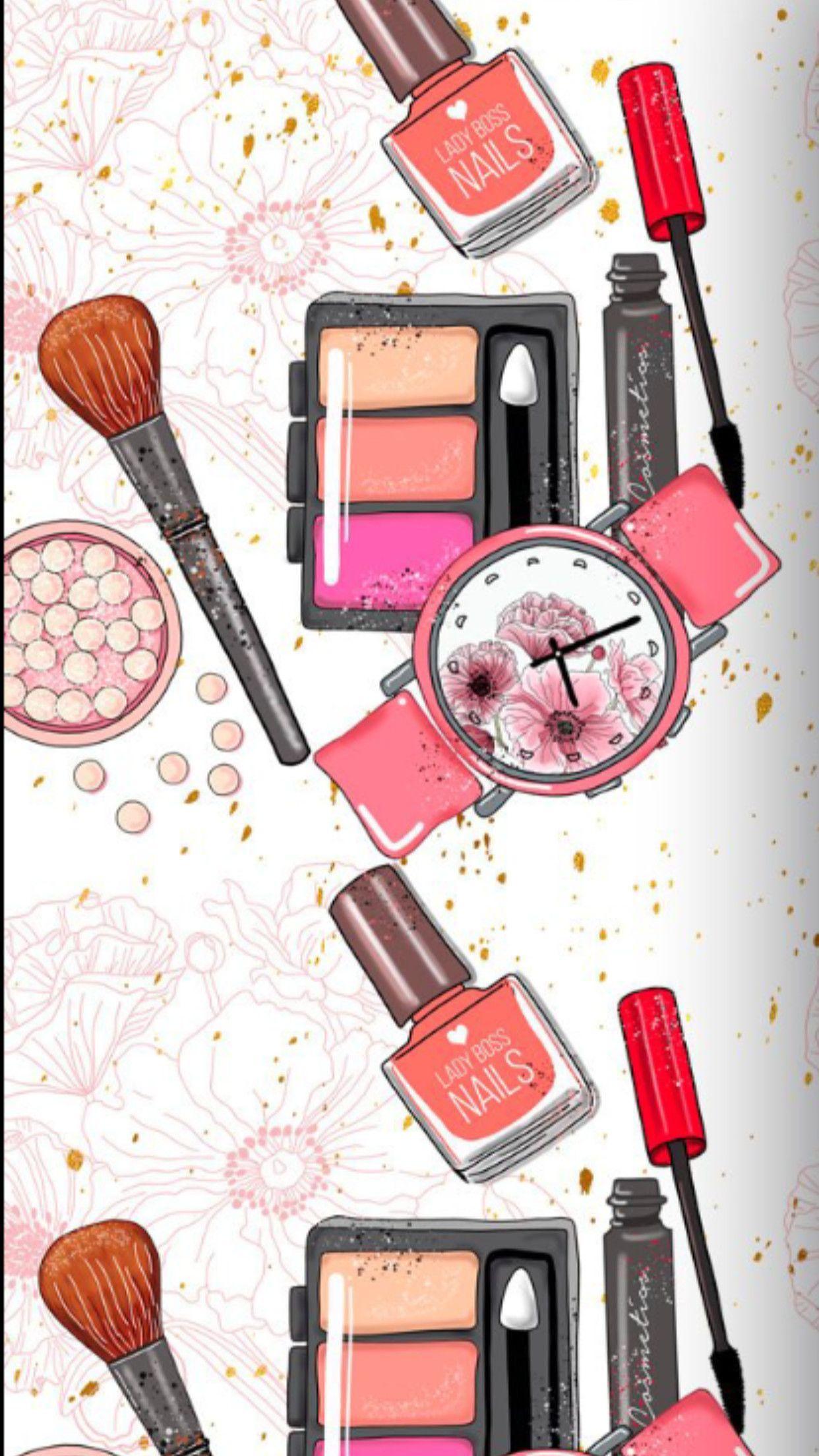 Makeup Iphone Wallpapers Top Free Makeup Iphone Backgrounds Wallpaperaccess
