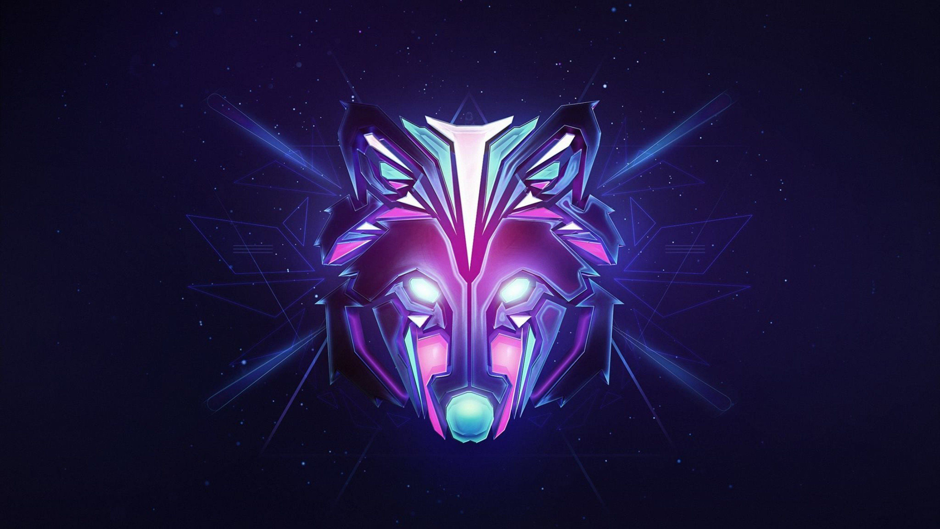 Colorful Wolf Wallpapers Top Free Colorful Wolf Backgrounds Wallpaperaccess
