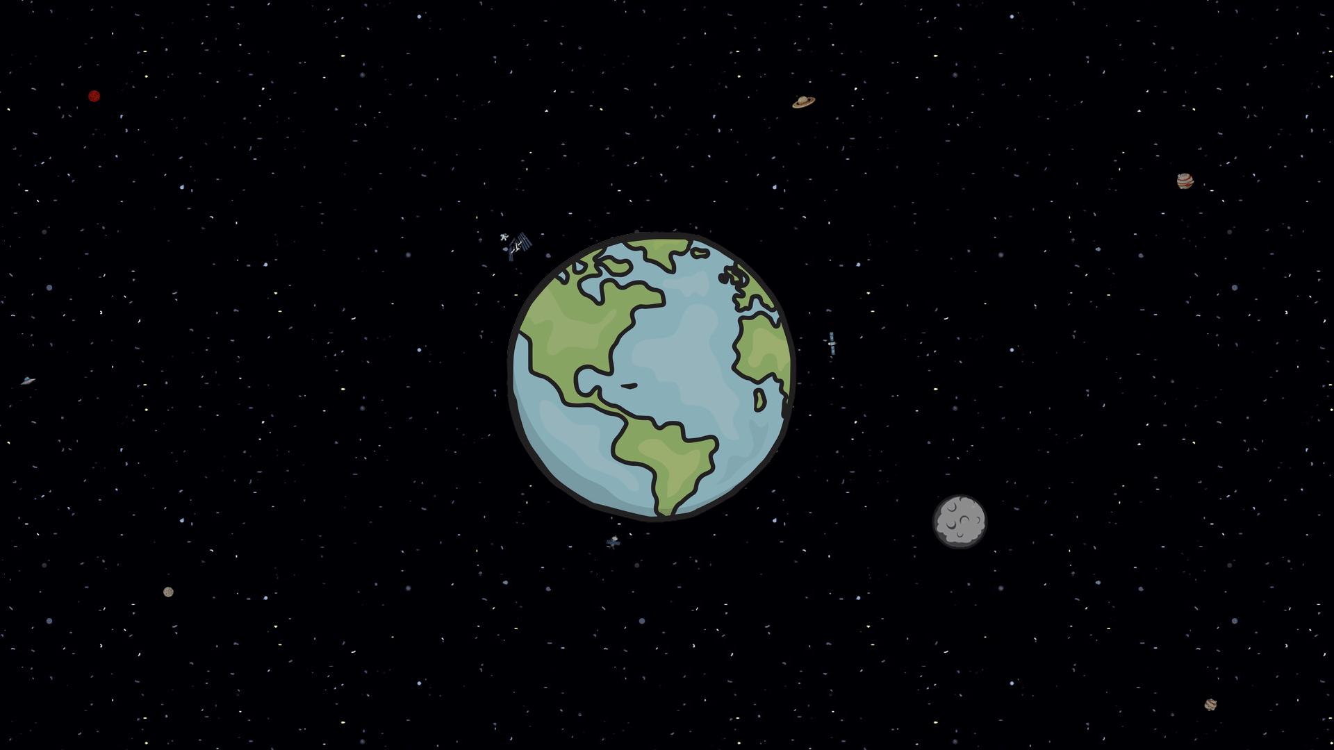 Cartoon Earth Wallpapers Top Free Cartoon Earth