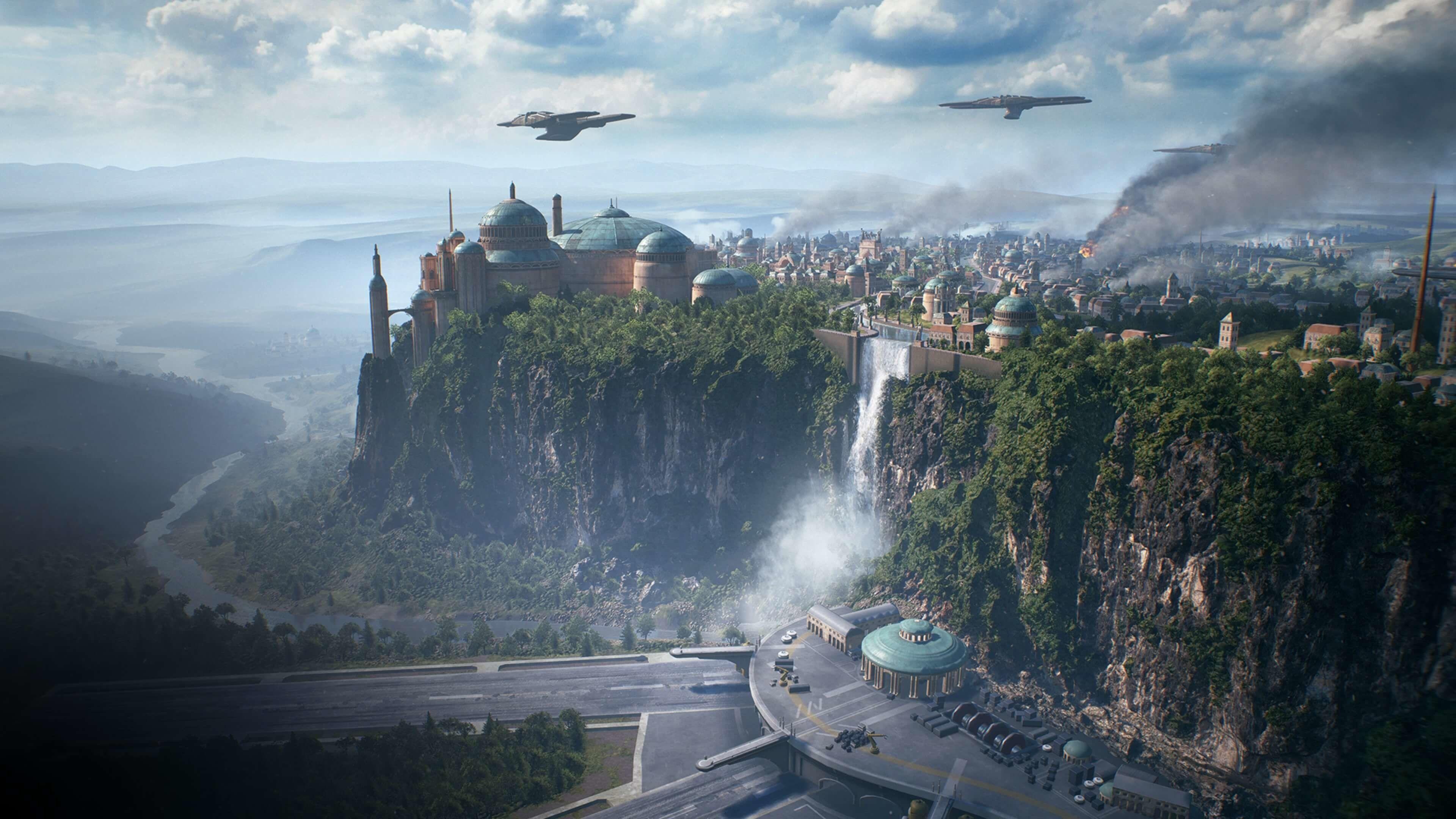 Star Wars Landscape Wallpapers Top Free Star Wars Landscape Backgrounds Wallpaperaccess