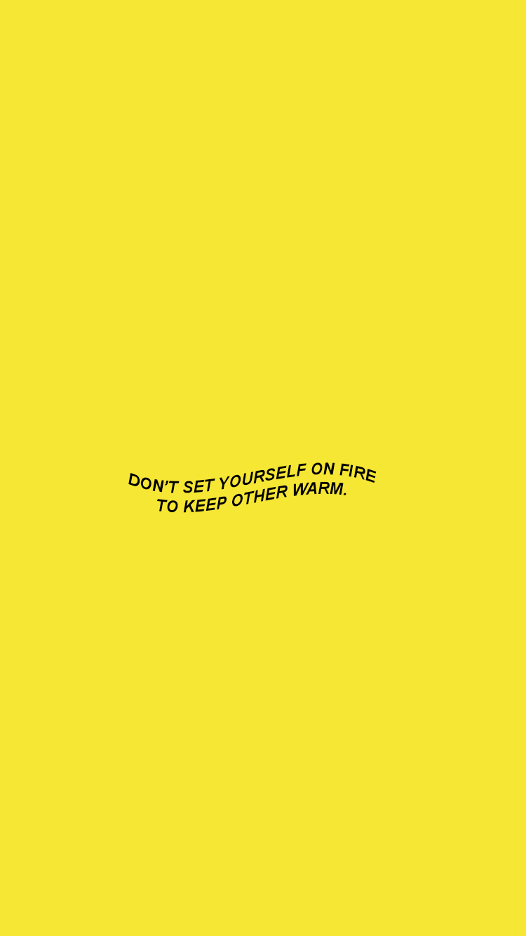 Wallpaper Quotes Yellow