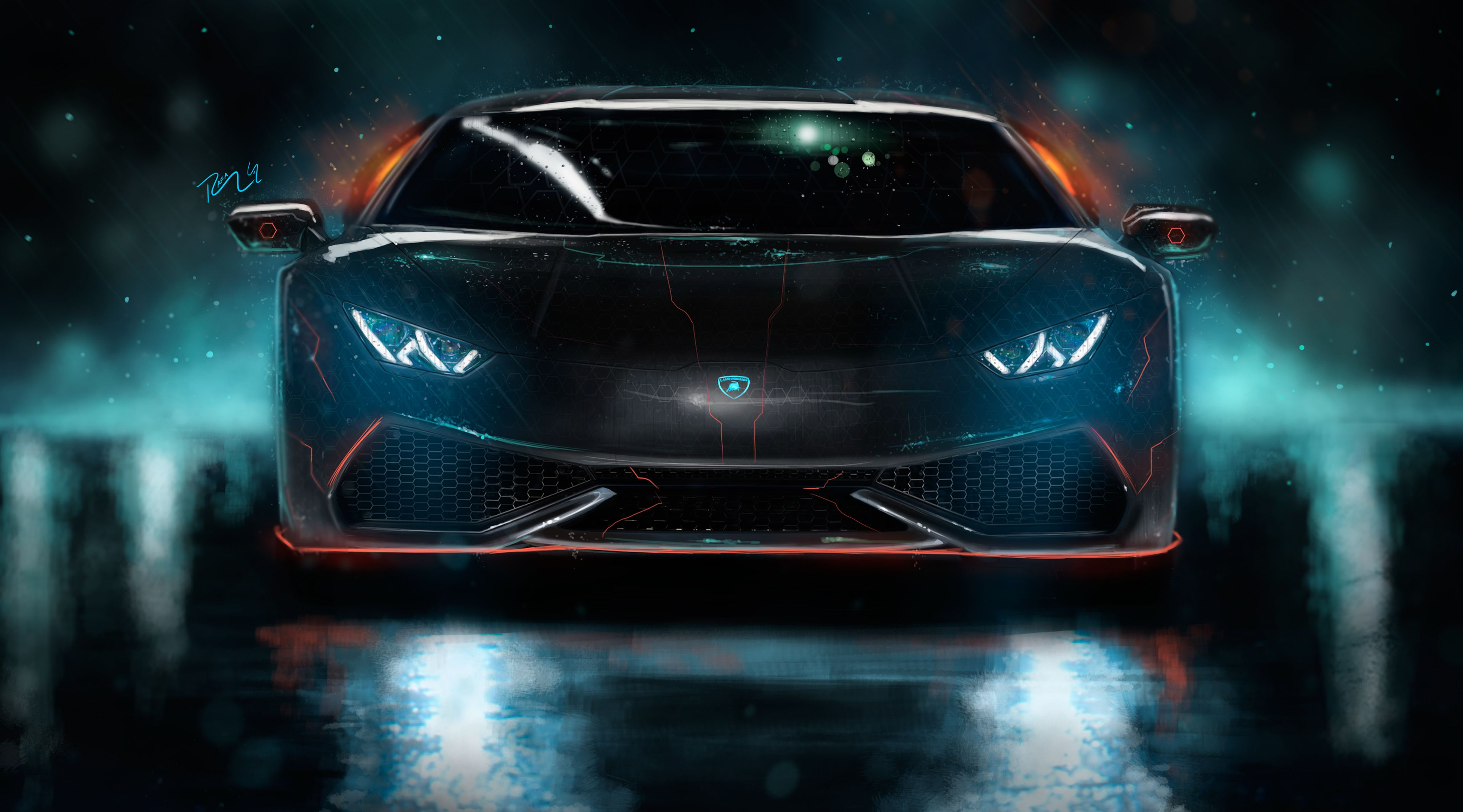 Neon Lamborghini Wallpapers Top Free Neon Lamborghini Backgrounds