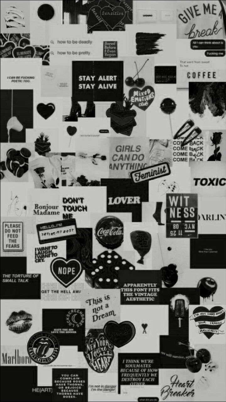 Aesthetic Vintage Wallpaper Black And White
