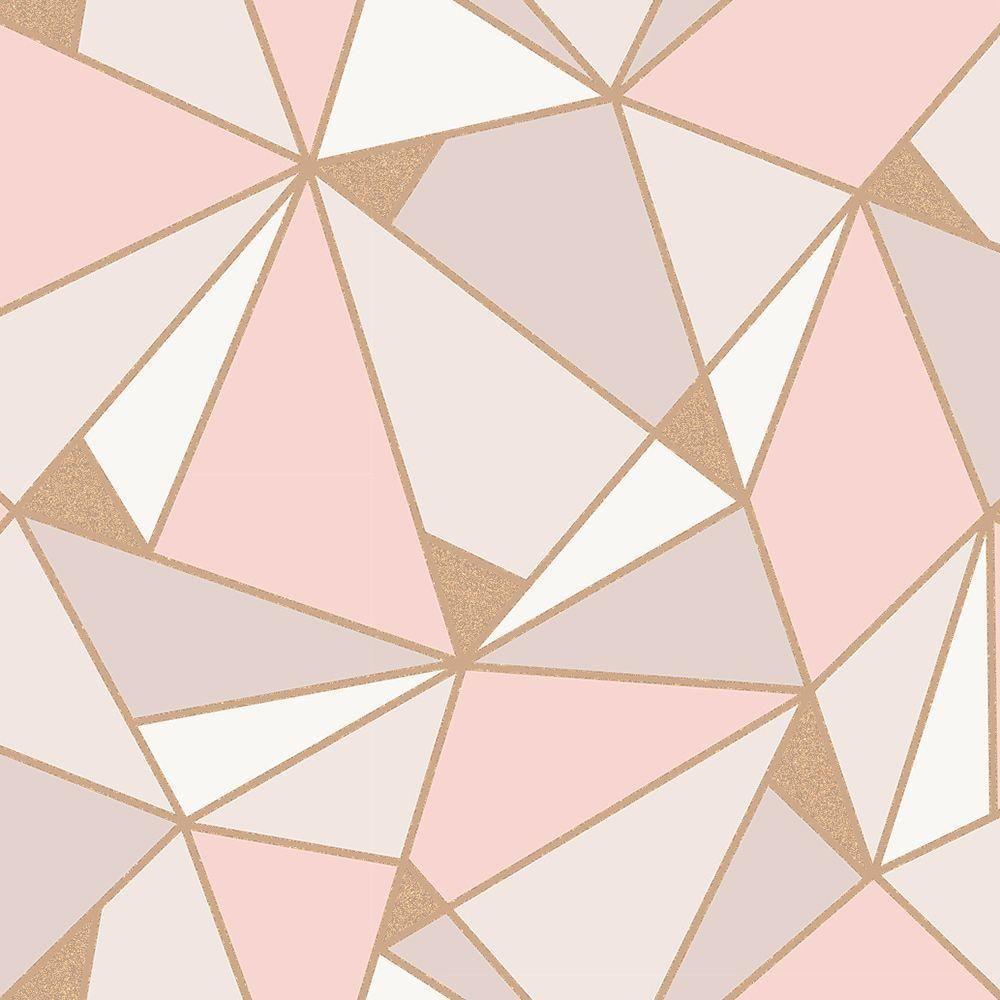 FINE DECOR FD42305 CREAM /& GOLD QUARTZ TRELLIS GEOMETRIC WALLPAPER METALLIC