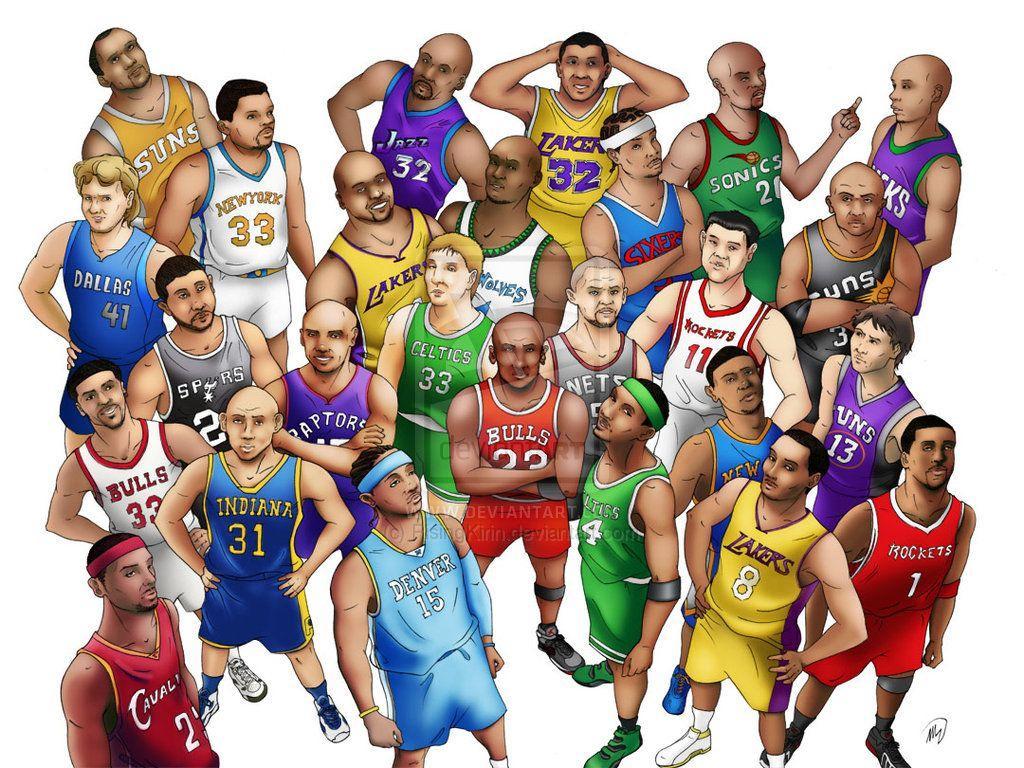 Cartoon NBA Players Wallpapers - Top Free Cartoon NBA ...