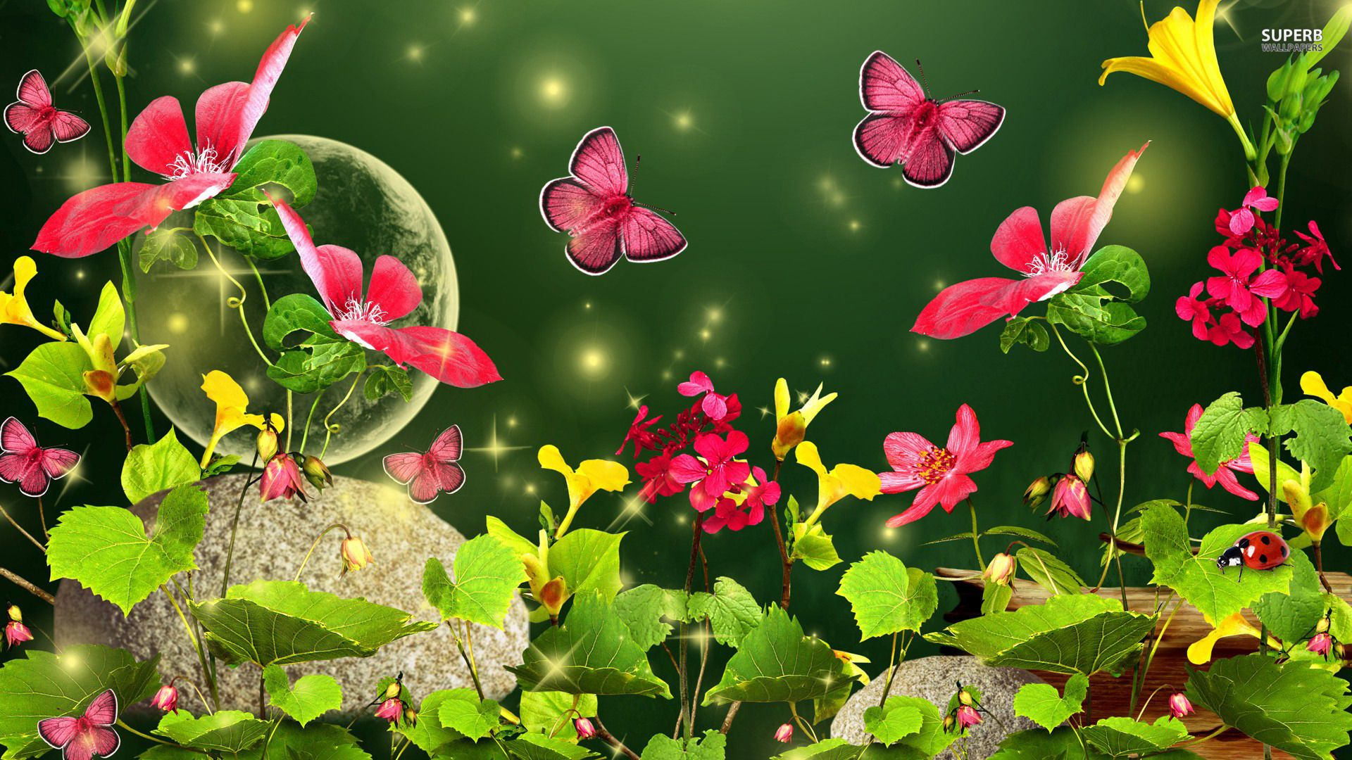 1366x768 Blue Green Butterfly Wallpapers