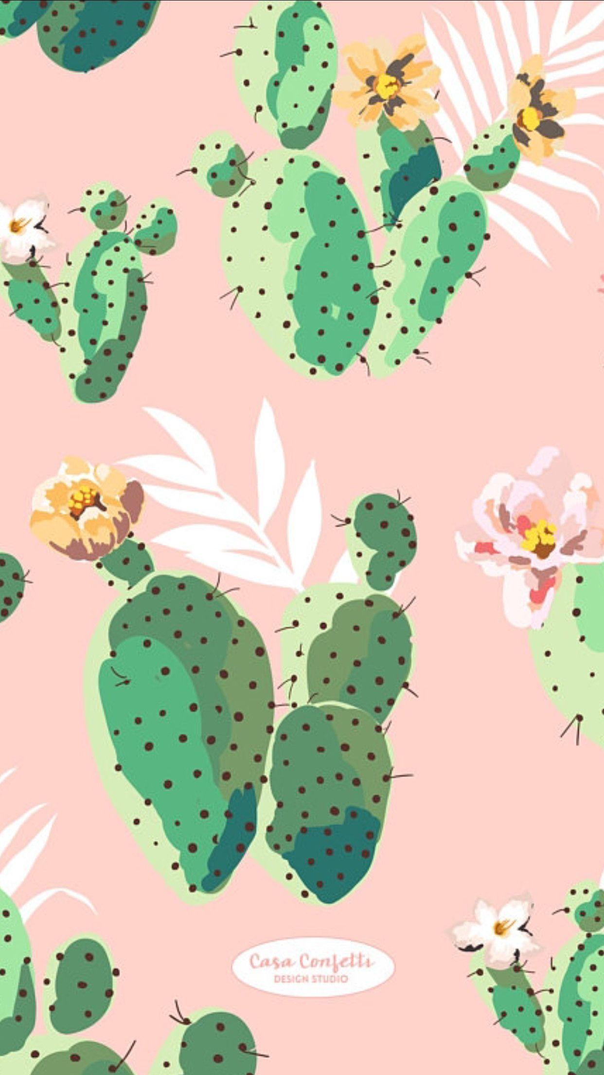Pink Cactus Ipad Wallpaper