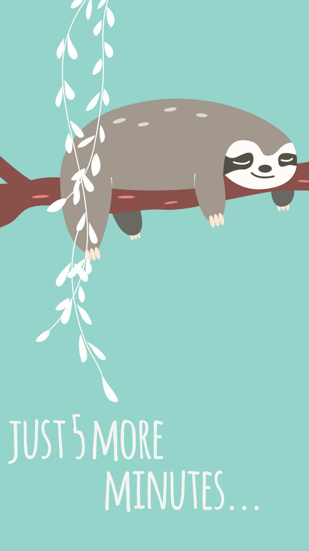 Kawaii Sloth Wallpapers Top Free Kawaii Sloth Backgrounds Wallpaperaccess