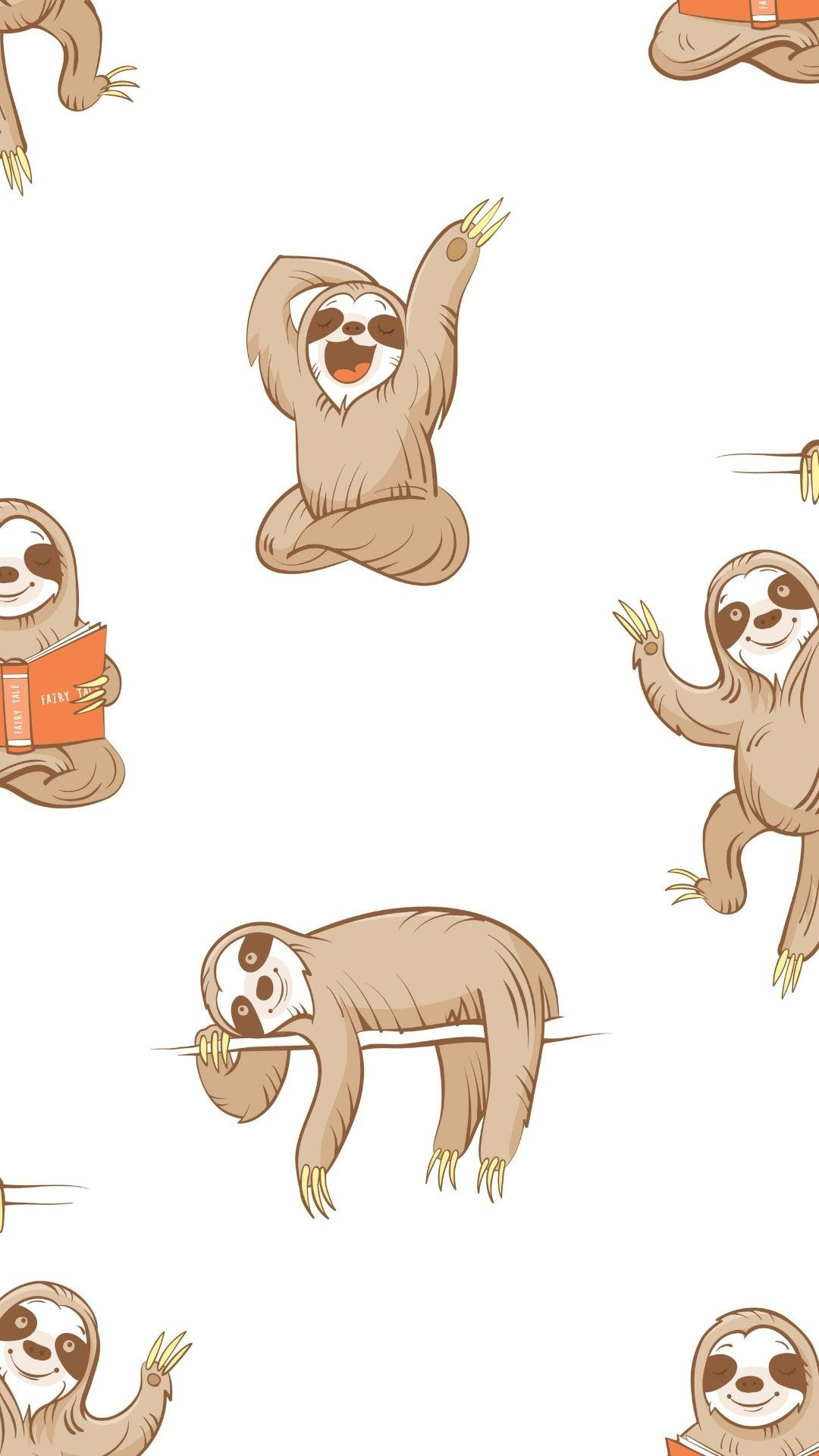 Cute Sloth Wallpapers Top Free Cute Sloth Backgrounds Wallpaperaccess