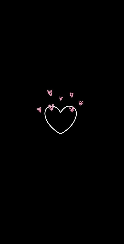 Black Real Heart Wallpaper