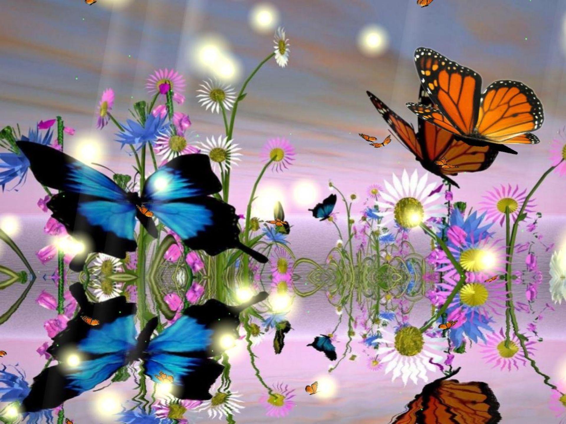 Бабочки картинки мерцающие