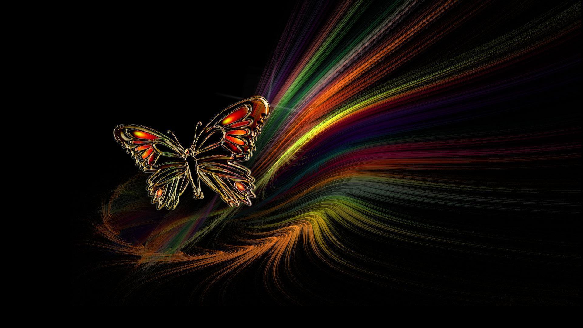 Neon Butterfly Desktop Wallpapers Top Free Neon Butterfly