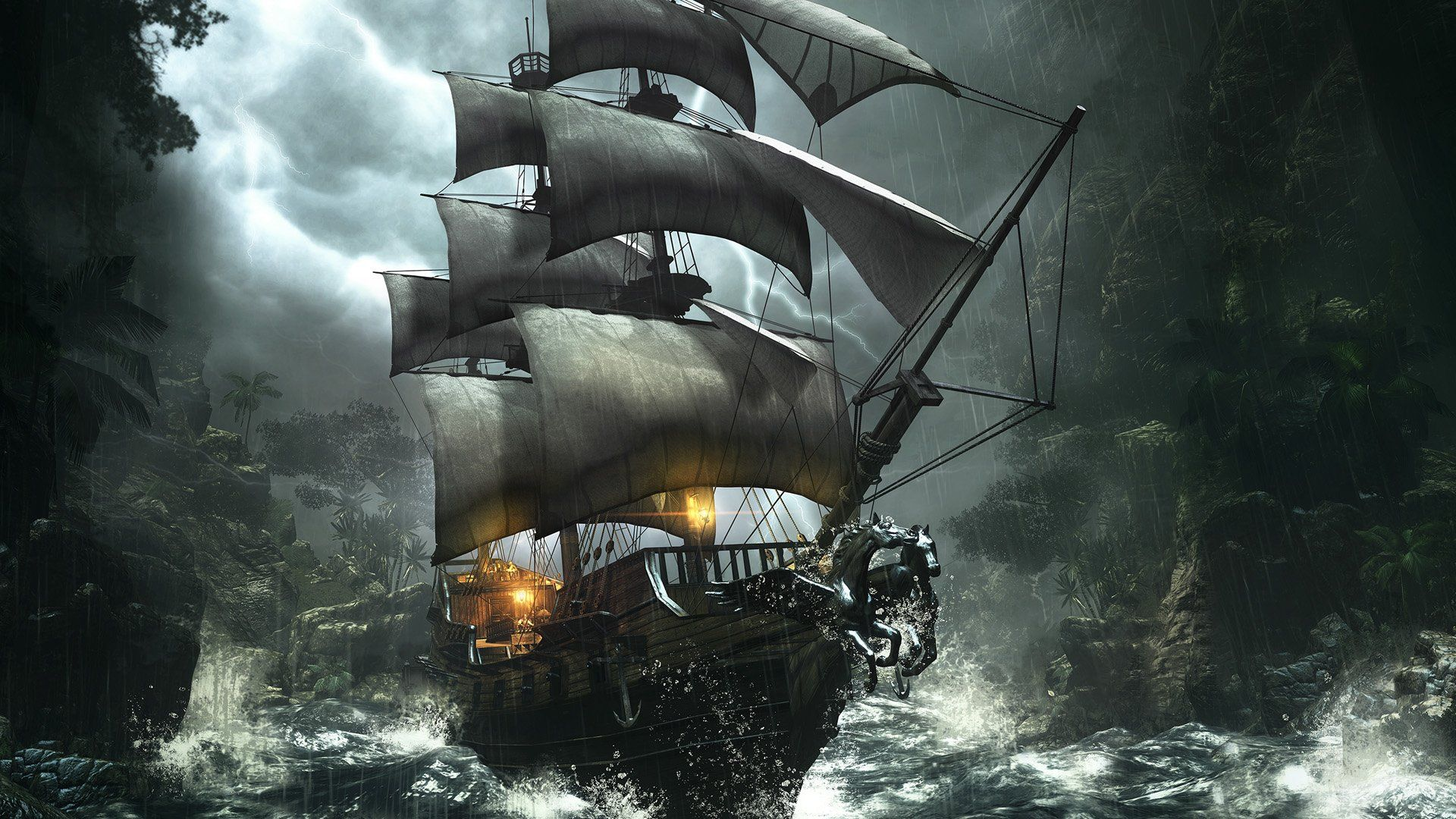 Pirate Ship Wallpapers Top Free Pirate Ship Backgrounds Wallpaperaccess