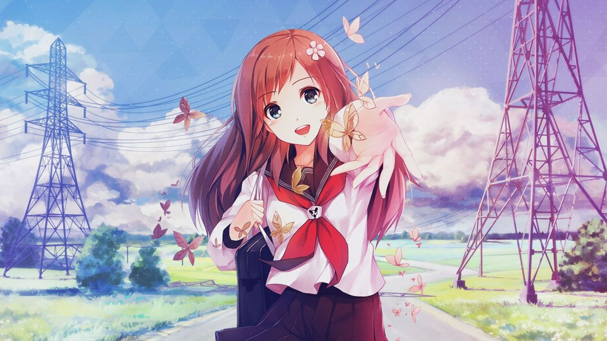 Happy Anime Girl Wallpapers - Top Free Happy Anime Girl