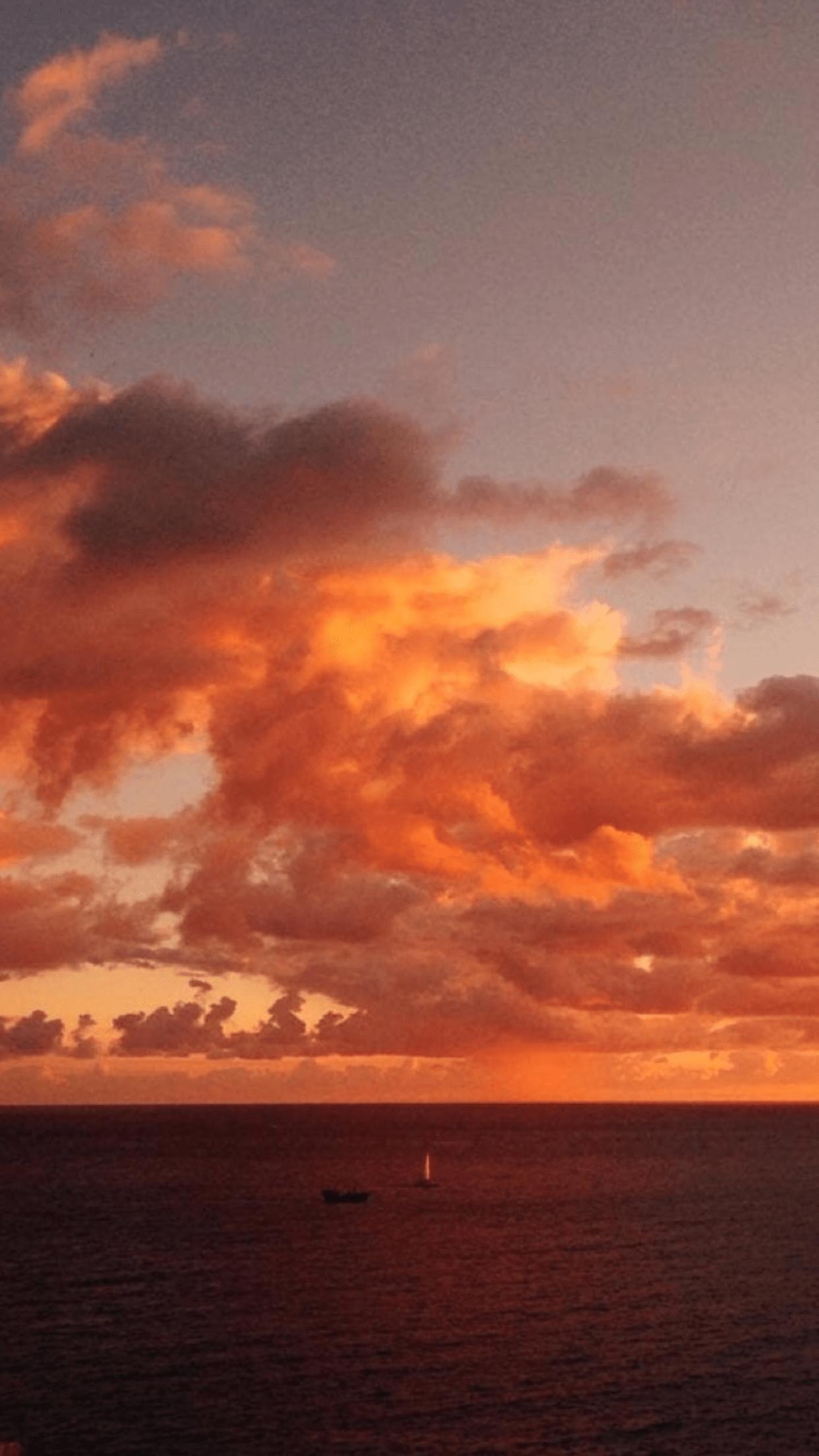 Orange Sunset Aesthetic Wallpapers - Top Free Orange ...