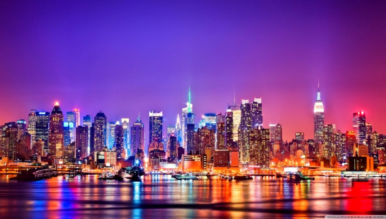 New York City Night Wallpapers Top Free New York City Night Backgrounds Wallpaperaccess