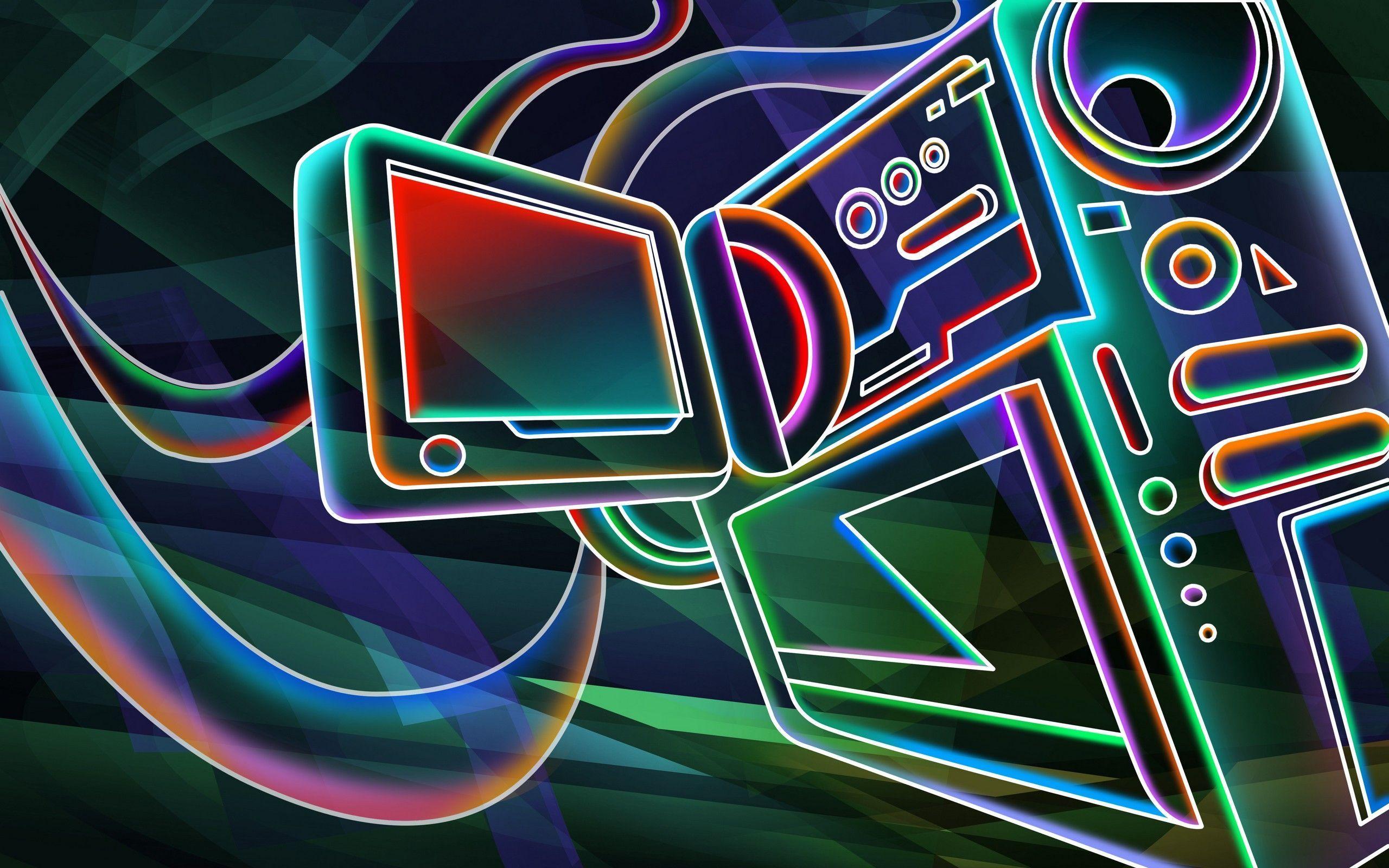 Neon Coole Hintergrundbilder 3d
