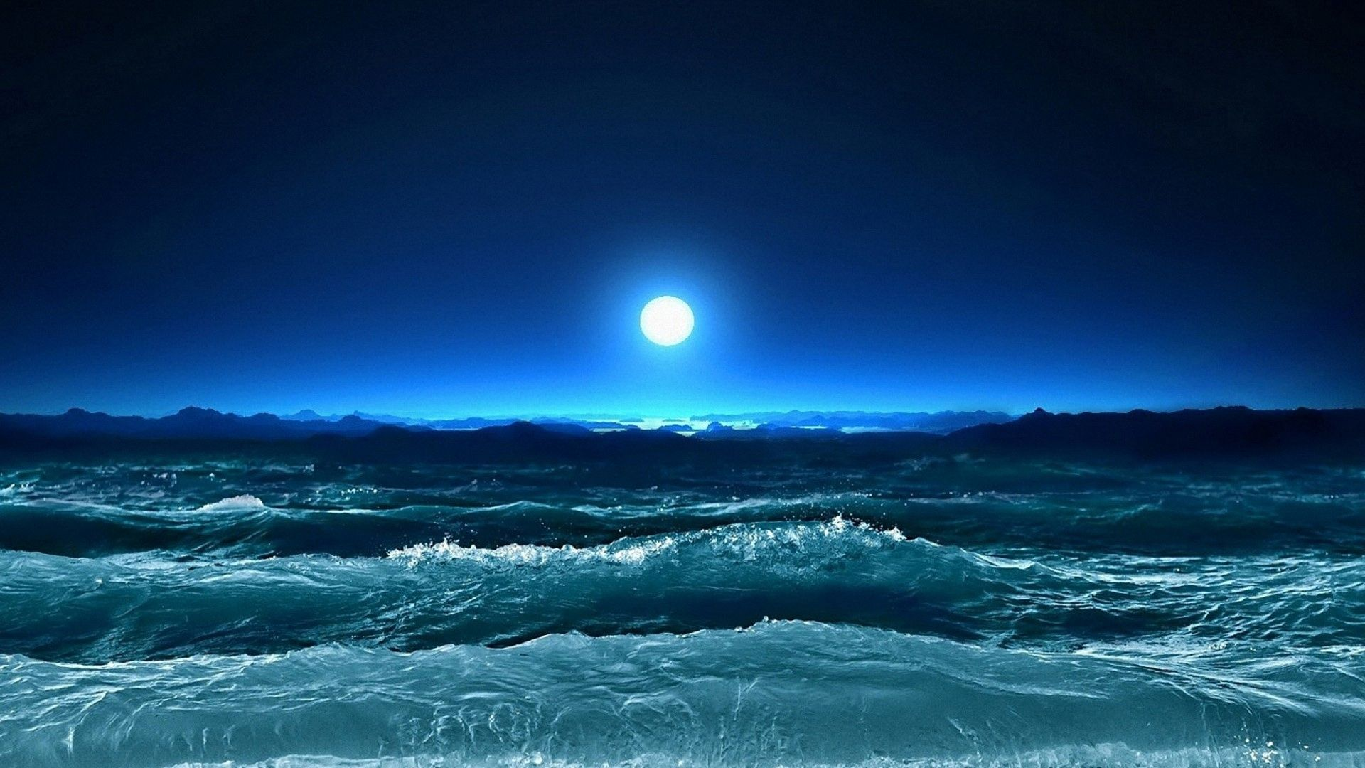 Ocean Moon Wallpapers Top Free Ocean Moon Backgrounds