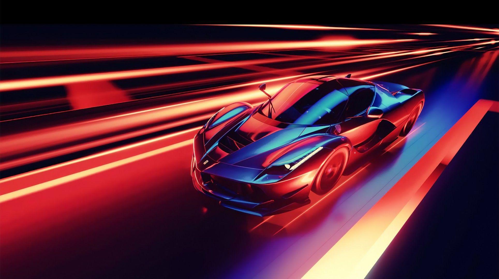 Neon Ferrari Wallpapers Top Free Neon Ferrari Backgrounds Wallpaperaccess