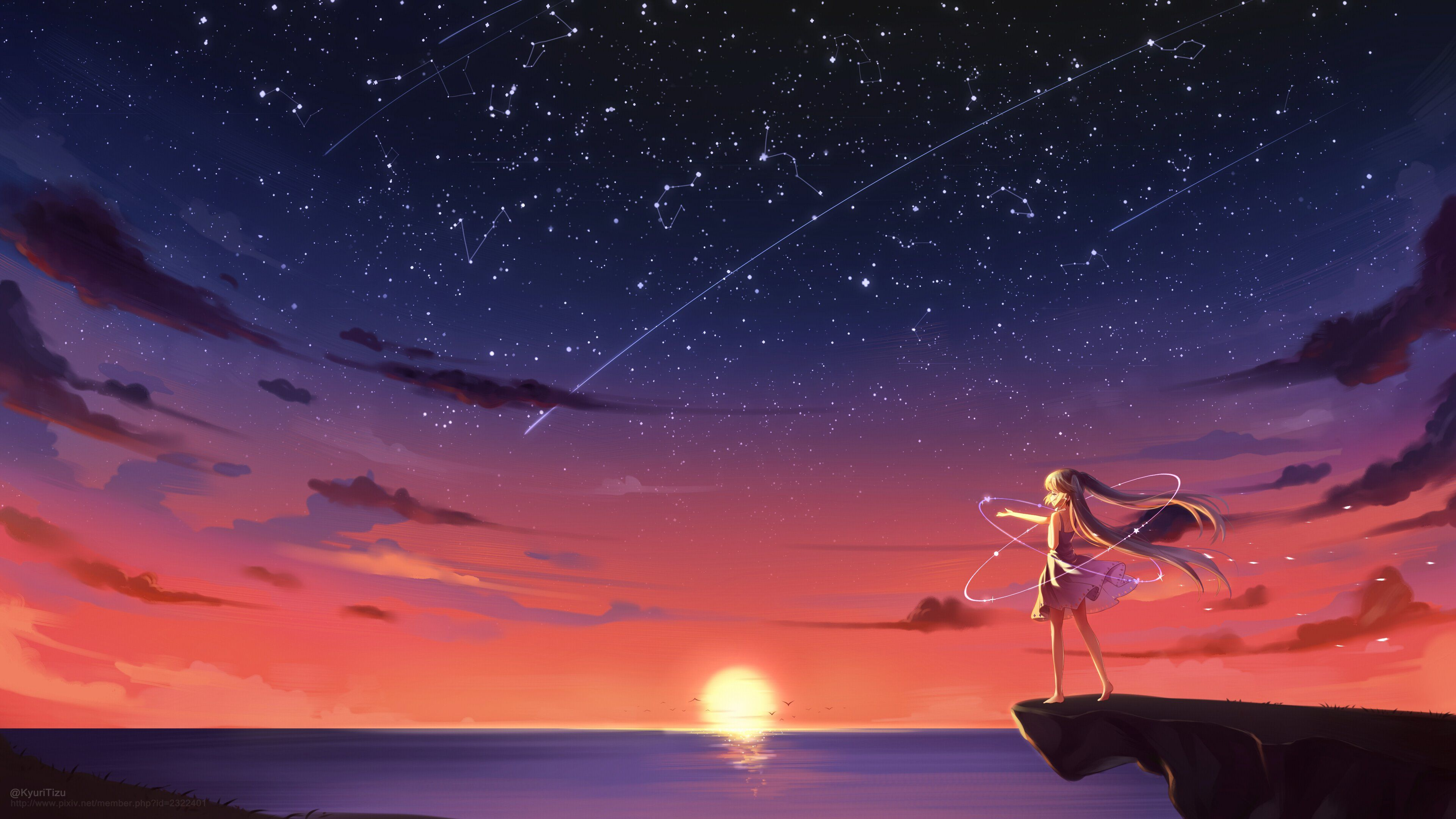 Anime Sunset Wallpapers Top Free Anime Sunset Backgrounds