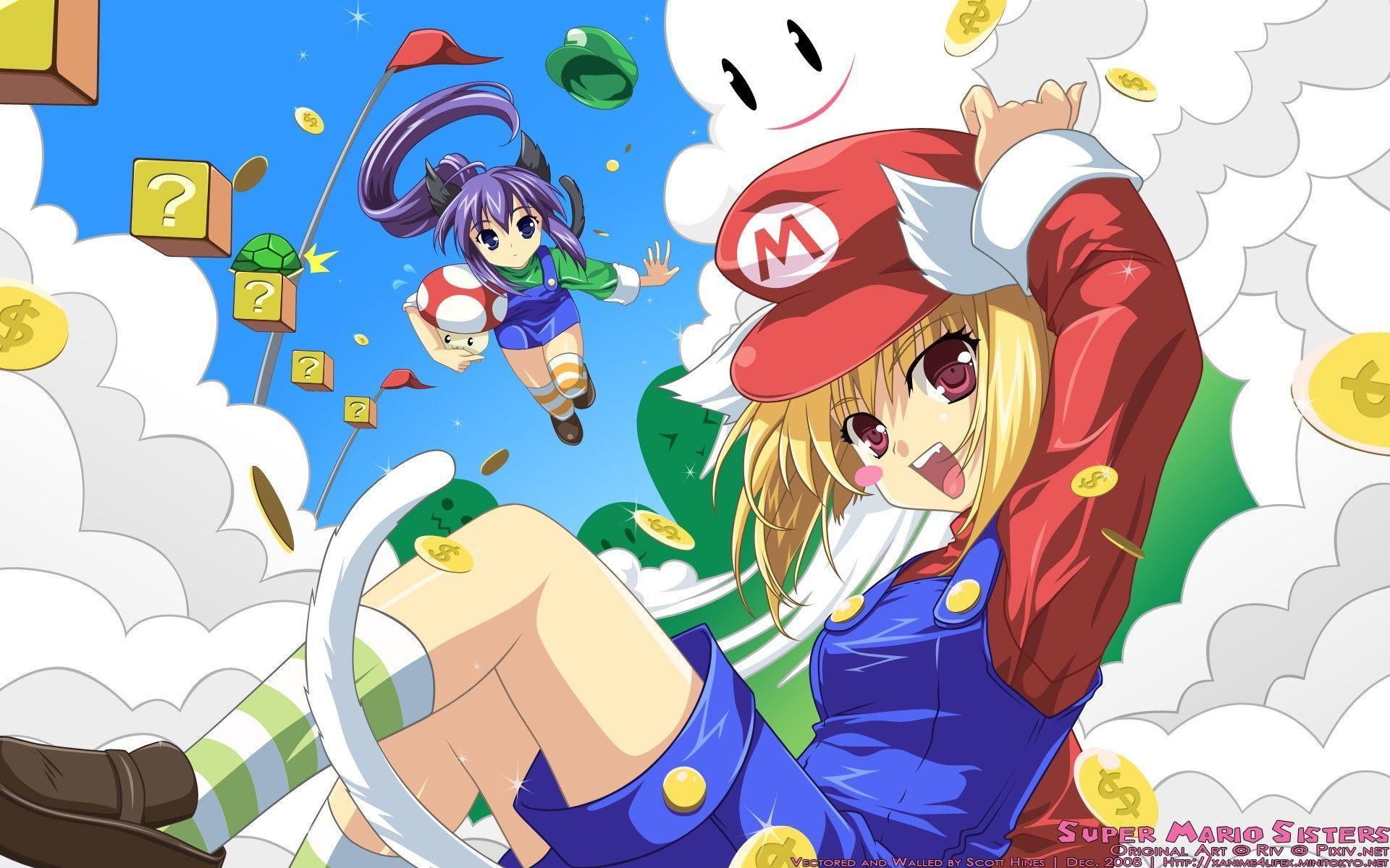 Mario Anime Wallpapers Top Free Mario Anime Backgrounds Wallpaperaccess