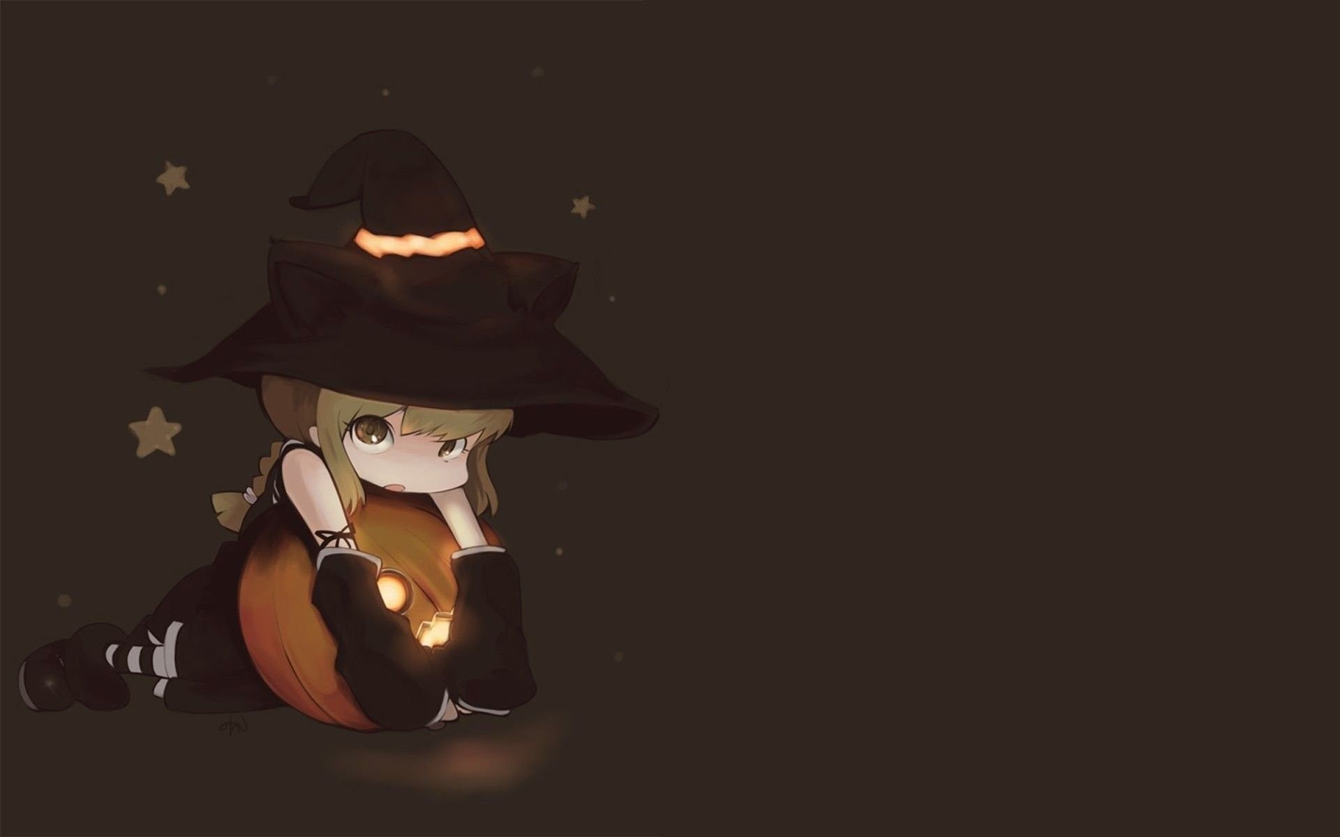 Cute Halloween Anime Wallpapers Top Free Cute Halloween Anime Backgrounds Wallpaperaccess