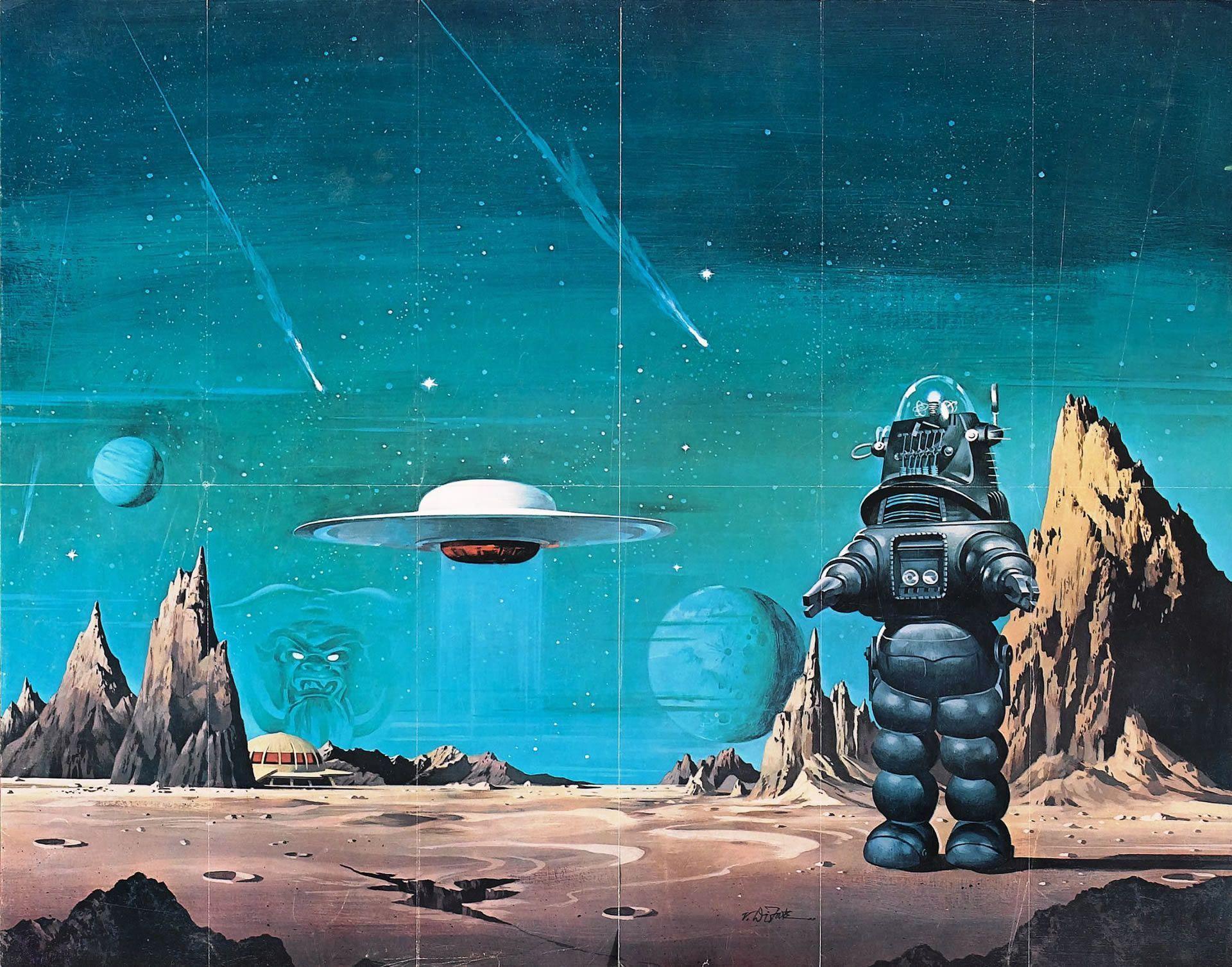 Vintage Sci Fi Robot Wallpapers Top Free Vintage Sci Fi Robot Backgrounds Wallpaperaccess