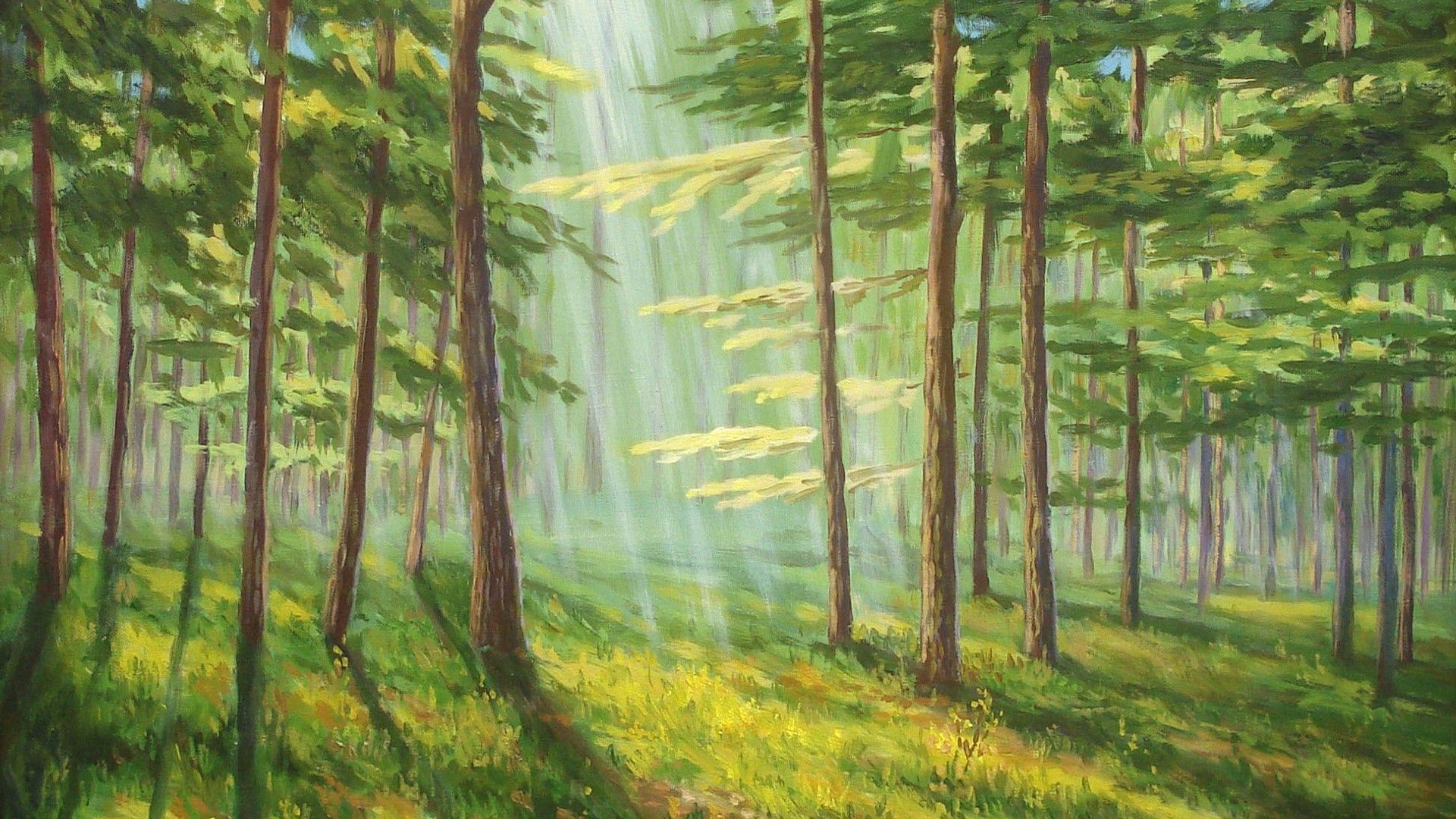 Картинки лес в рисунках