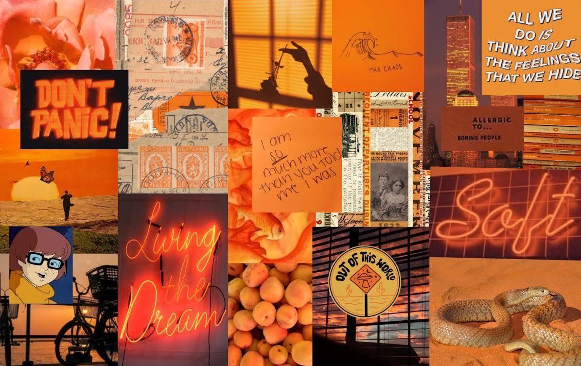 Orange Aesthetic Laptop Wallpapers Top Free Orange Aesthetic