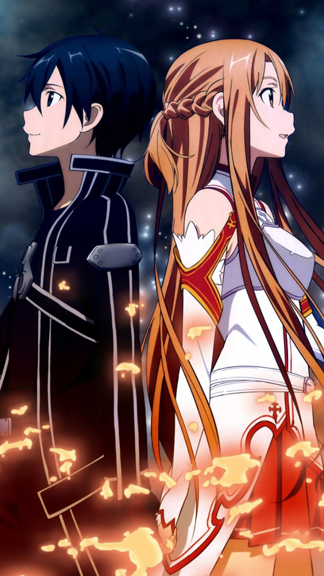 Foto Kirito Dan Asuna sao phone wallpapers - top free sao phone backgrounds