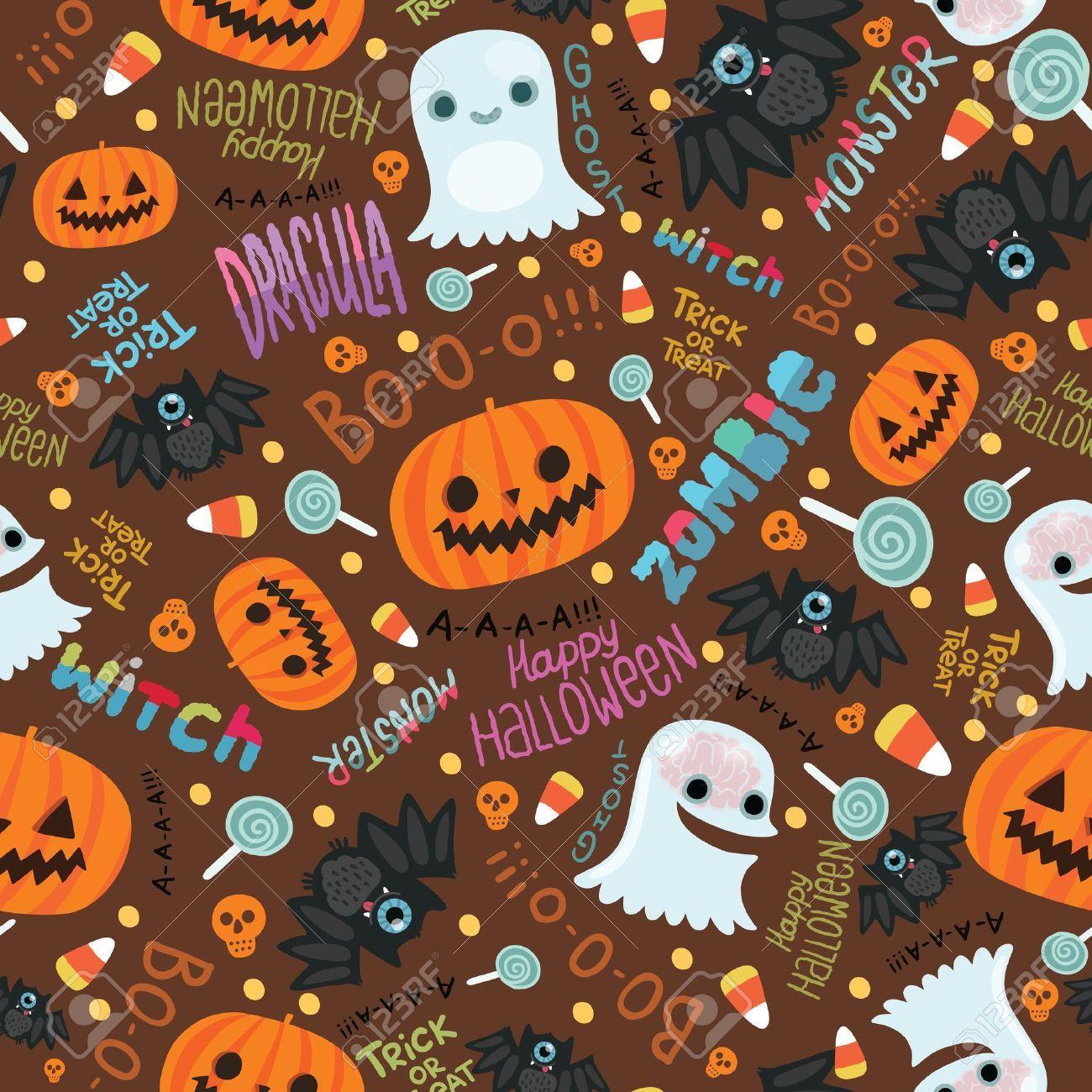 Cute Halloween Pattern Wallpapers Top Free Cute Halloween Pattern Backgrounds Wallpaperaccess